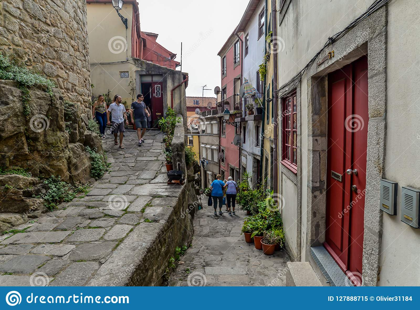 Une rue à Porto - au Portugal