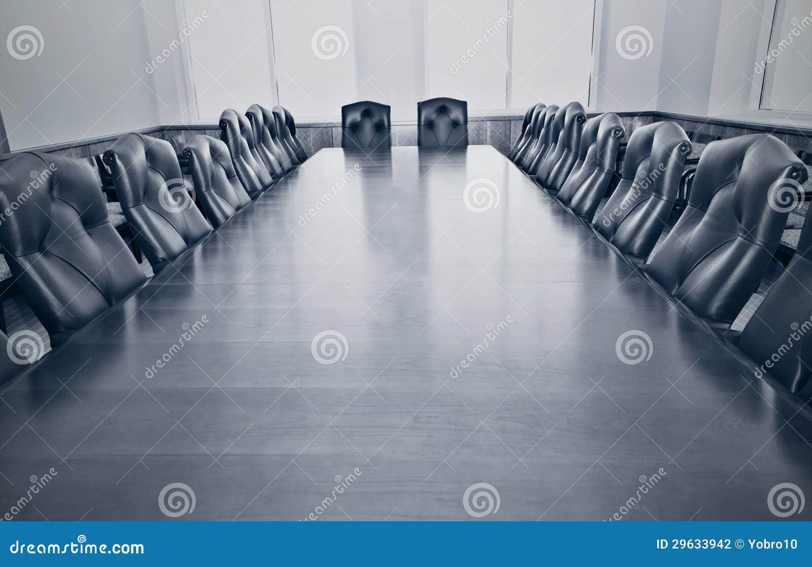 Une salle de conférence vide