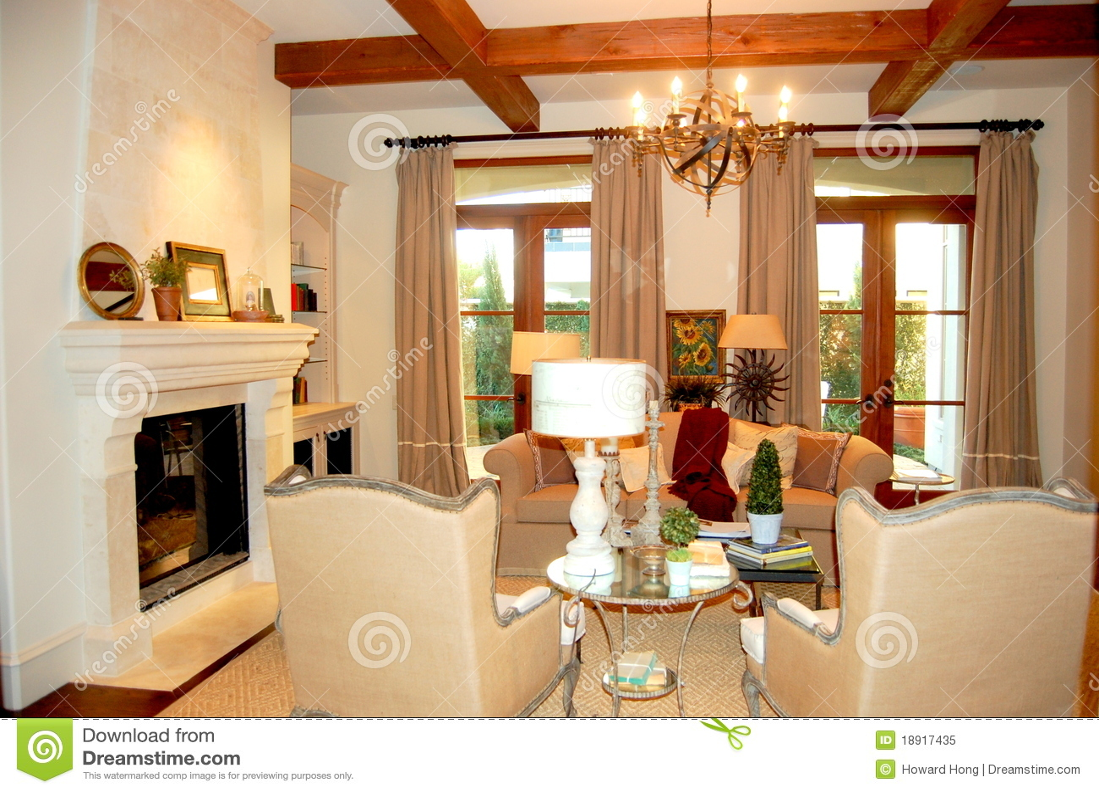 Une salle de famille de luxe