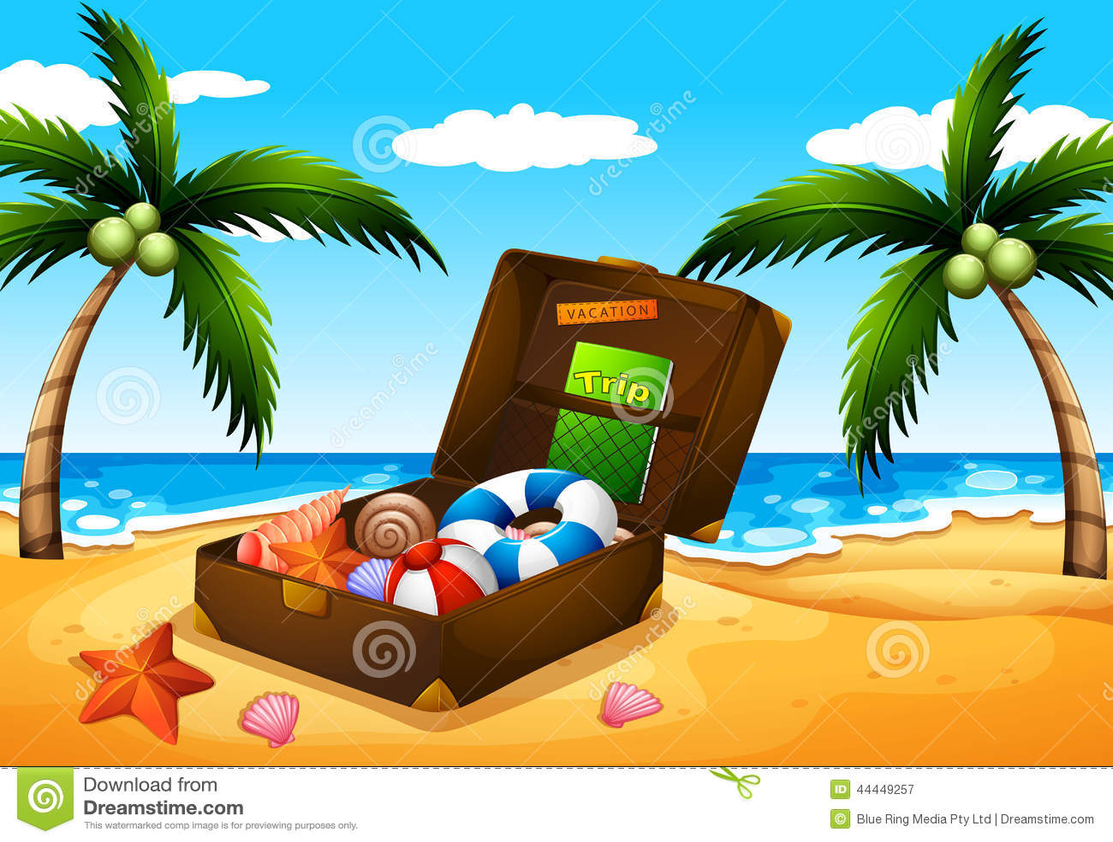 Une sortie de plage illustration de vecteur image 44449257 - Sortie de plage femme ...