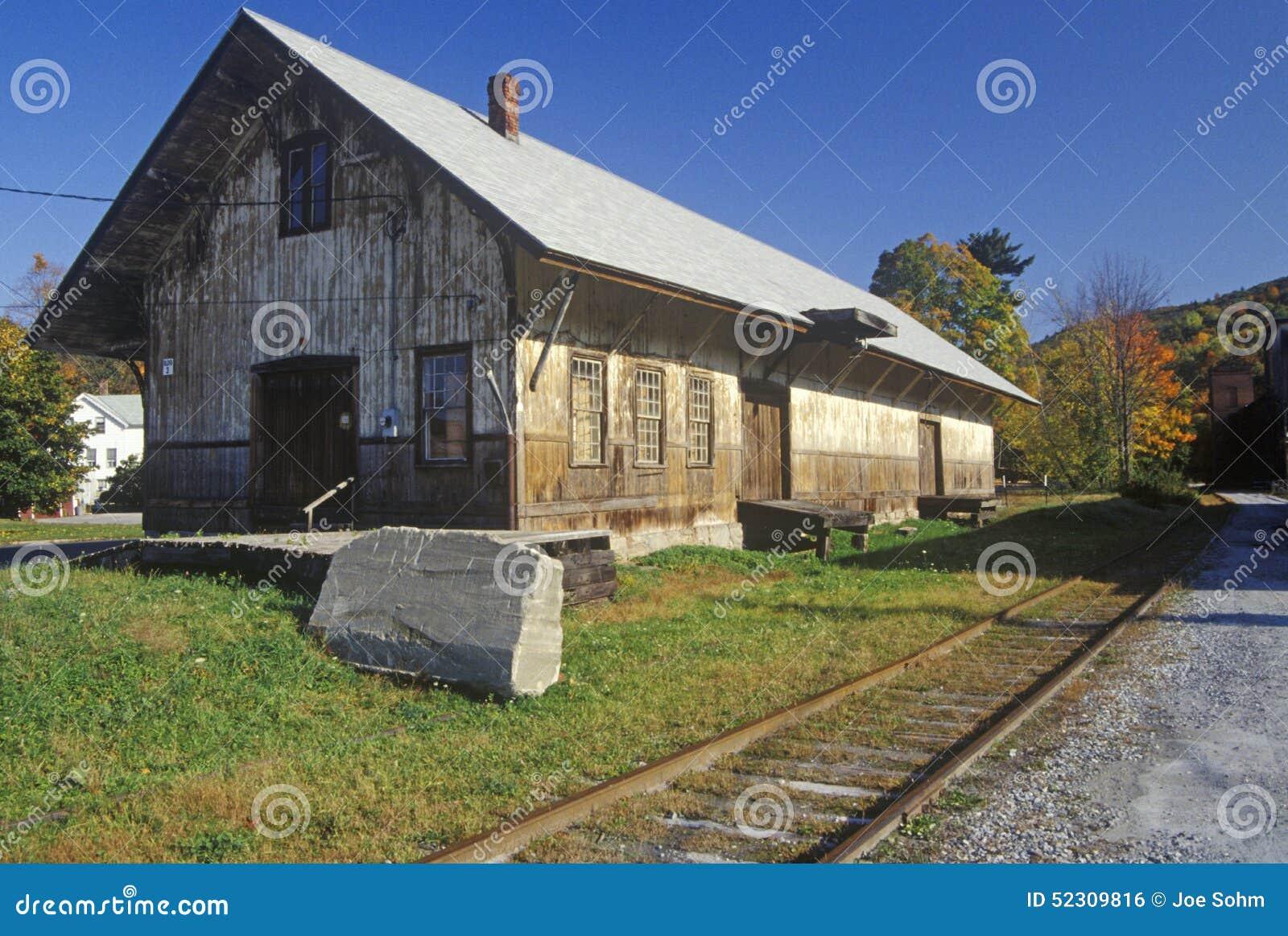Une station de train abandonnée dans grand Barrington, le Massachusetts