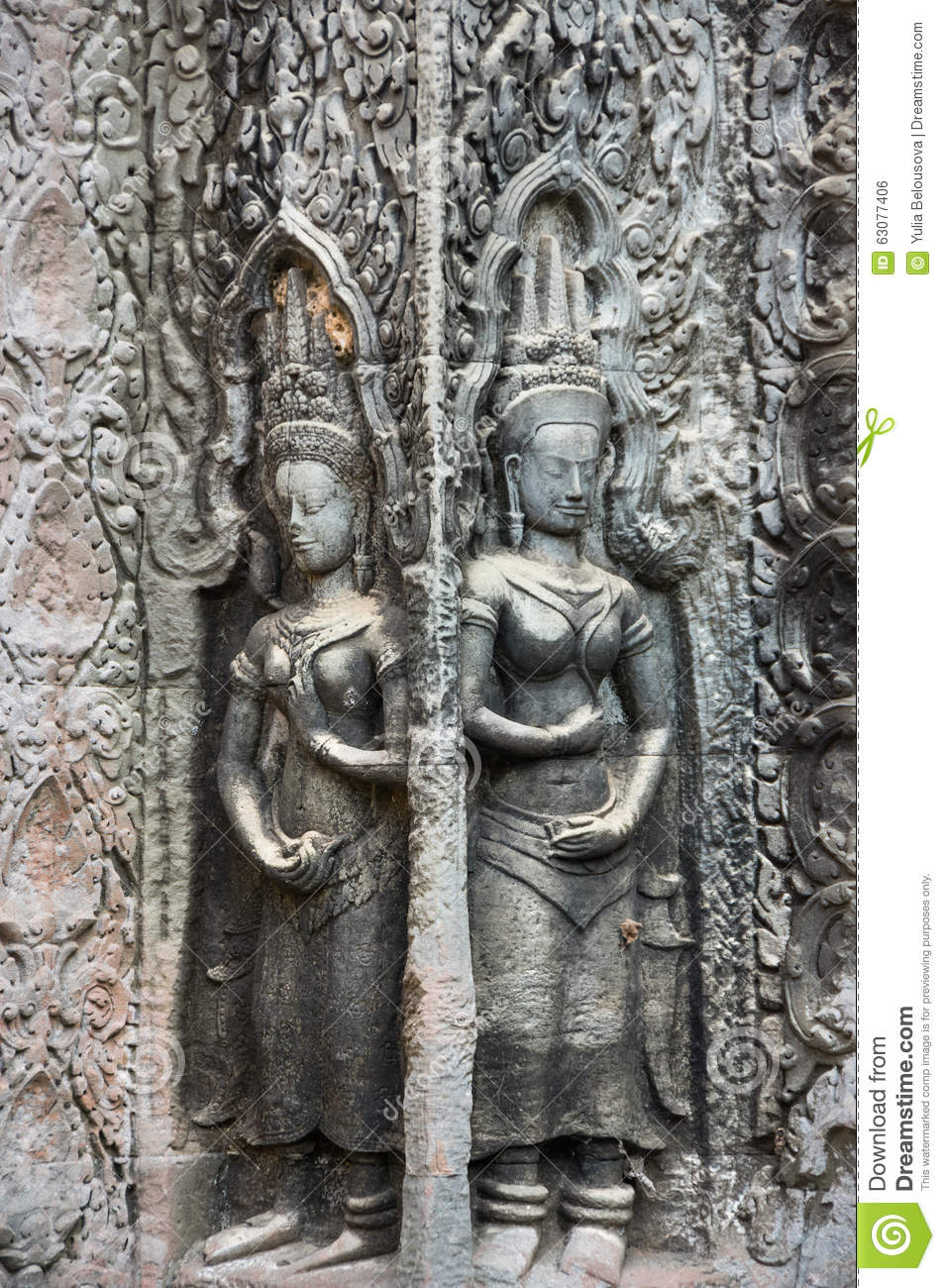 Download Une Statue De Bas-relief De Culture De Khmer Photo stock - Image du sculpture, cambodia: 63077406