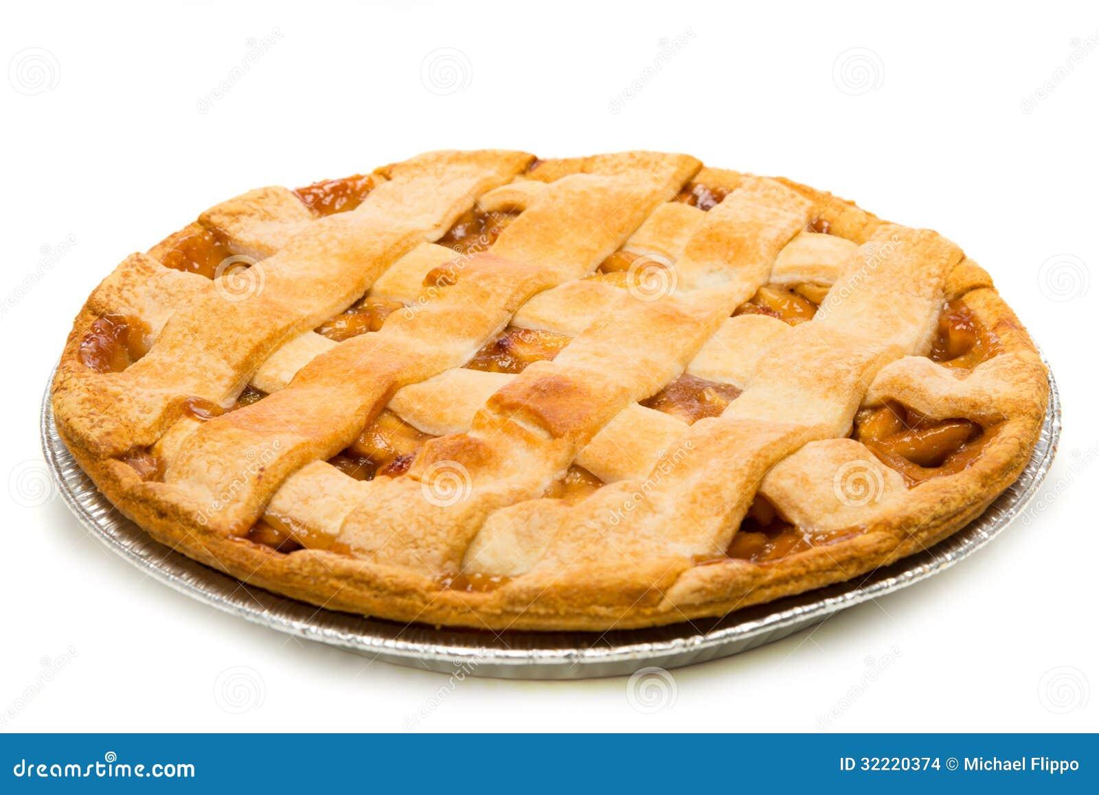 Une tarte aux pommes délicieuse sur le blanc