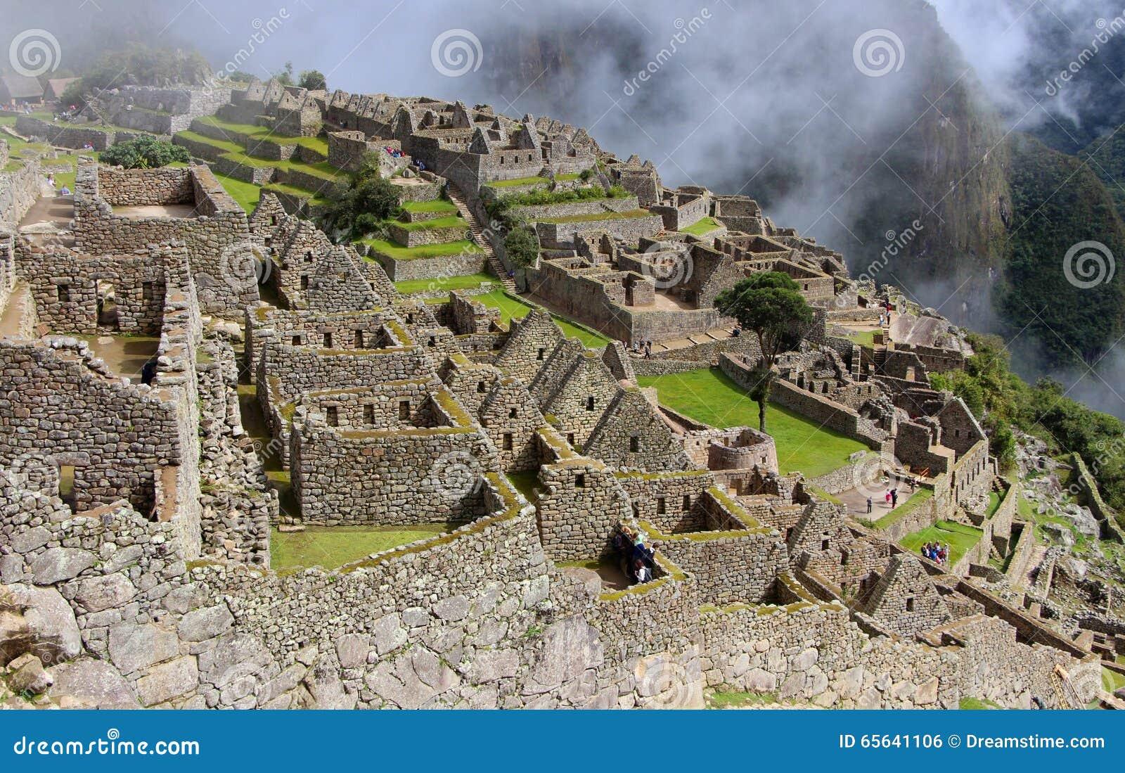 Une ville antique de Machu Picchu