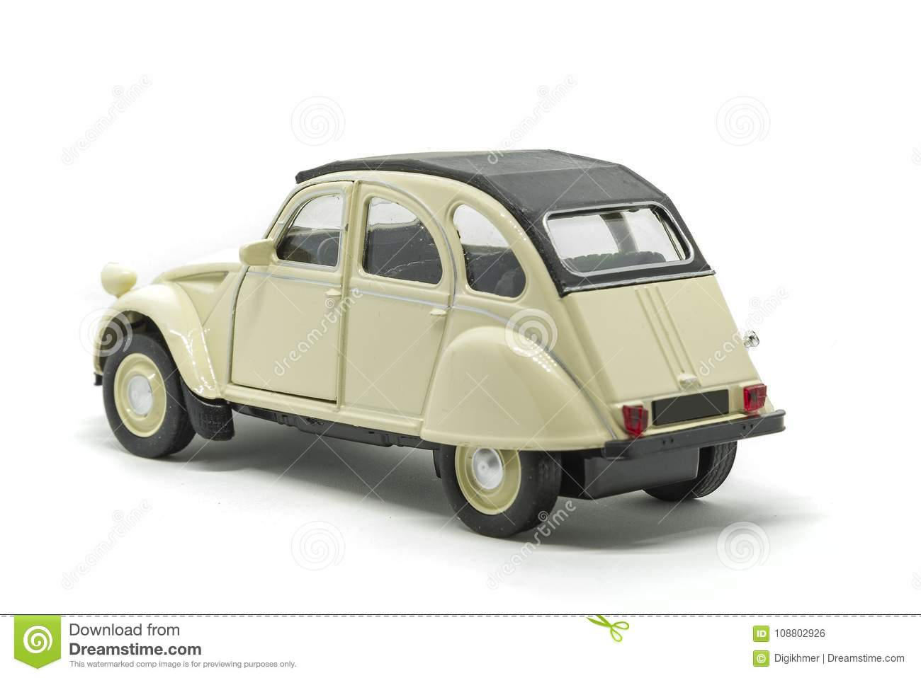 une voiture de citroen 2cv de dos d u0026 39  u00e9pop u00e9e photo stock