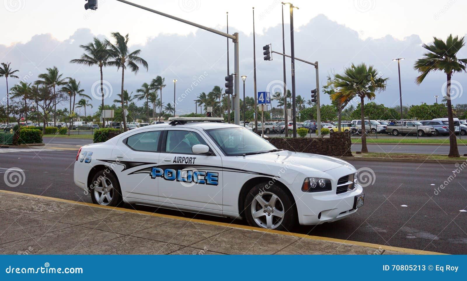 - Une voiture de police d aéroport à l aéroport de Kahului