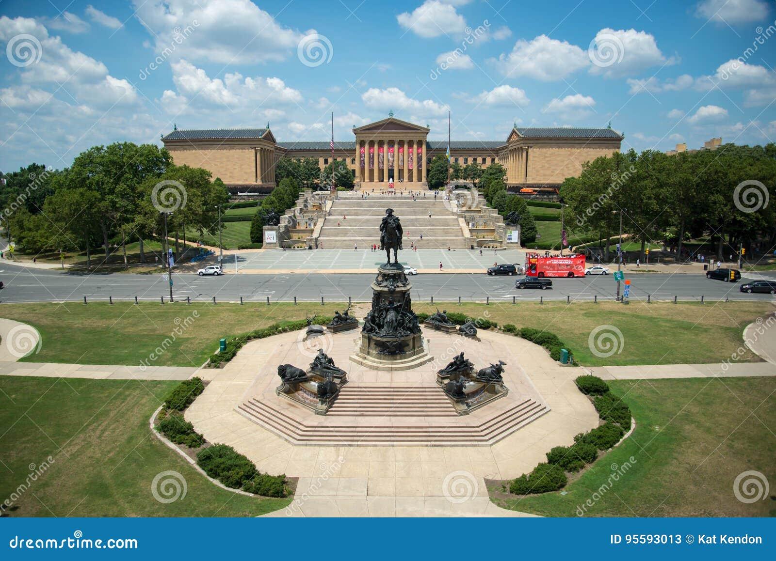 Une vue aérienne de Philadelphie Art Museum