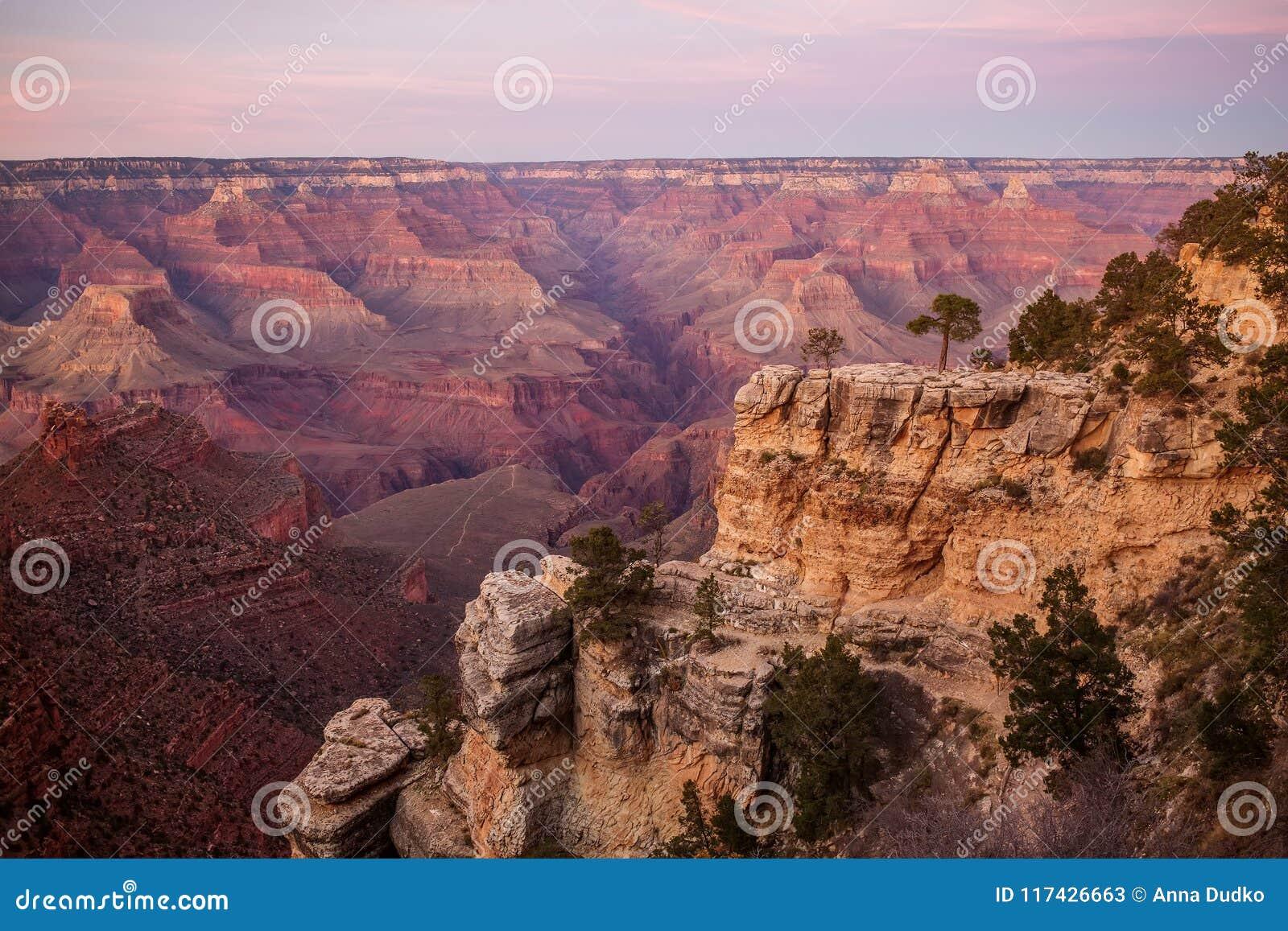 Une vue au parc national de Grand Canyon, jante du sud, Arizona, Etats-Unis