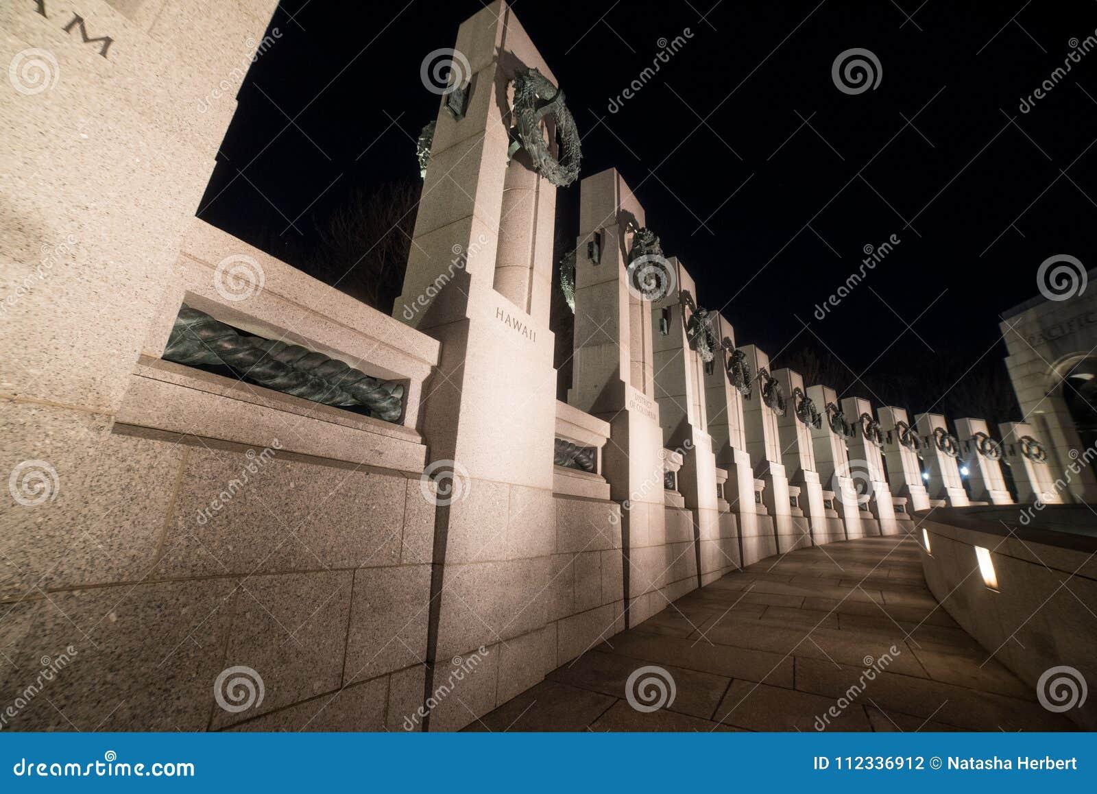 Une vue des états au mémorial de WWII