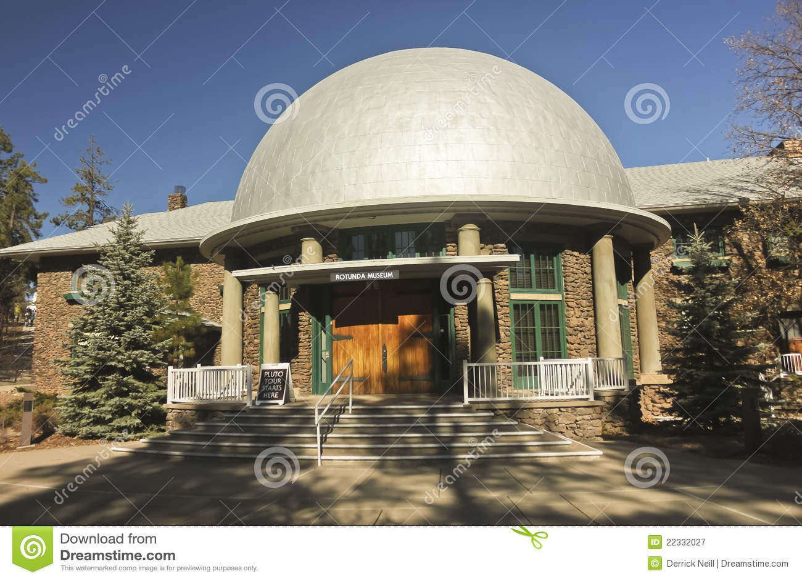 Une vue du musée rotunda de Slipher