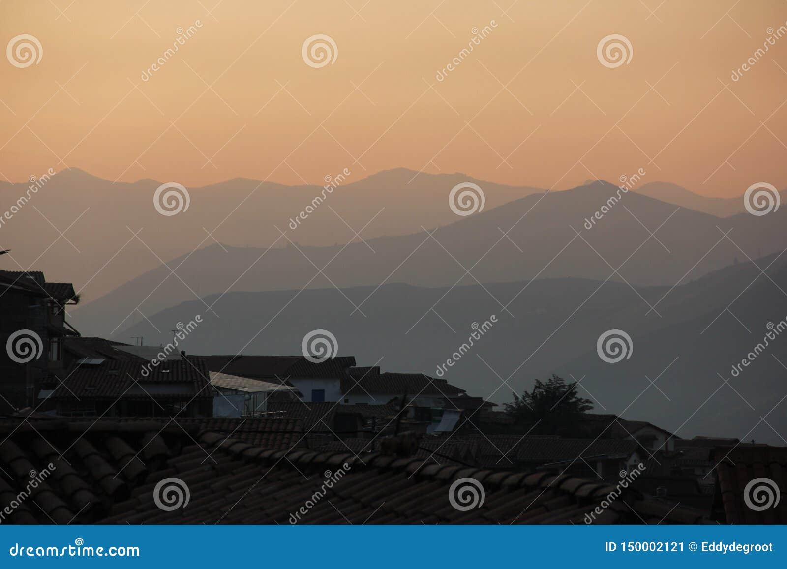 Une vue earial au-dessus de Cuzco