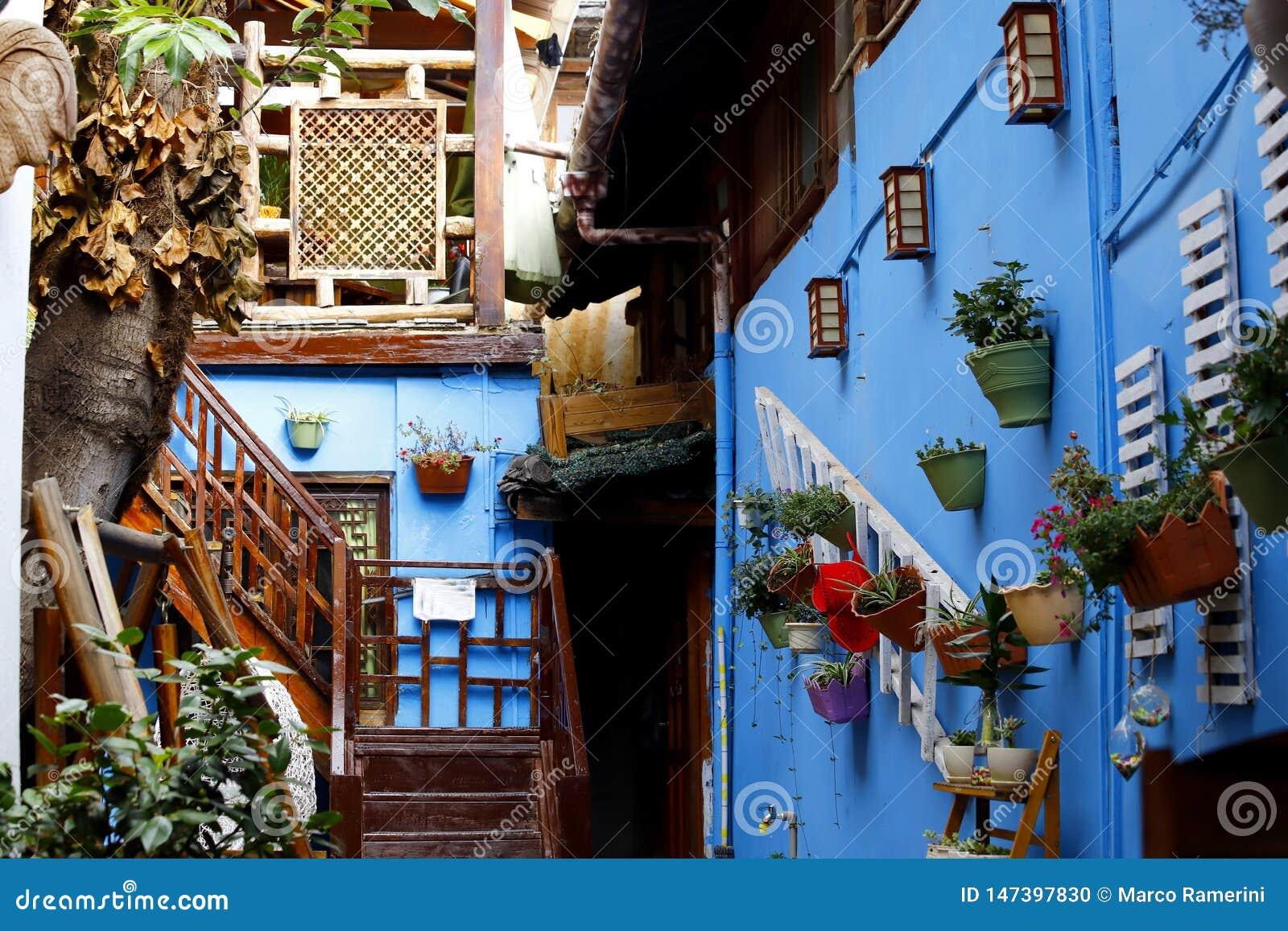 Une vue pittoresque de la ville historique de Lijiang, Yunnan, Chine