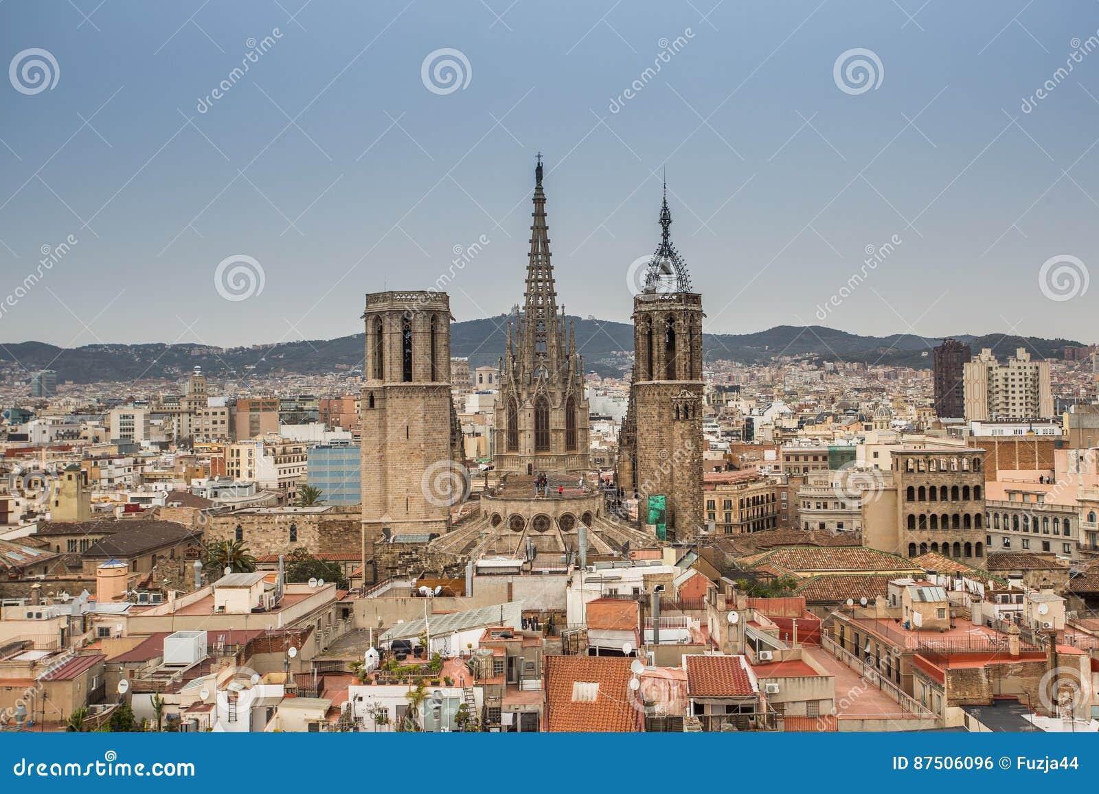 Une vue supérieure de Barcelone