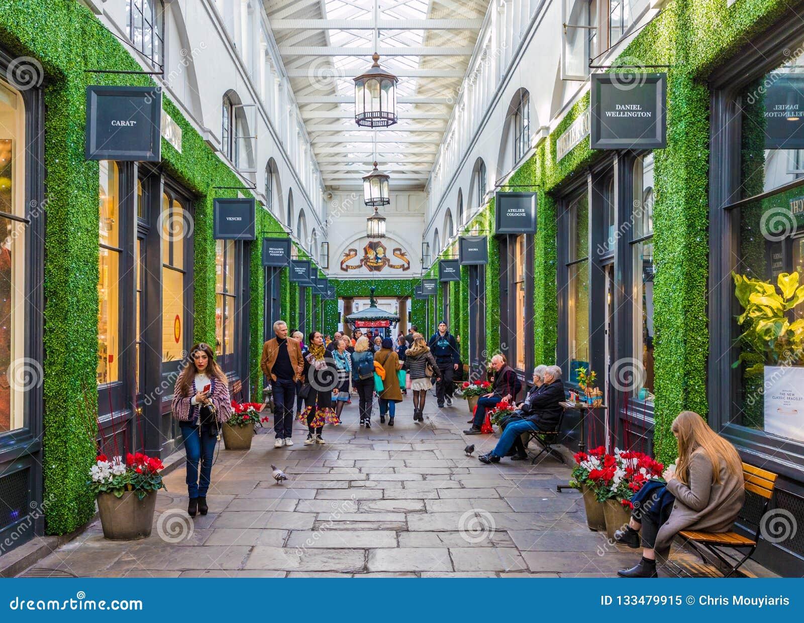 Une vue typique dans Covent Garden