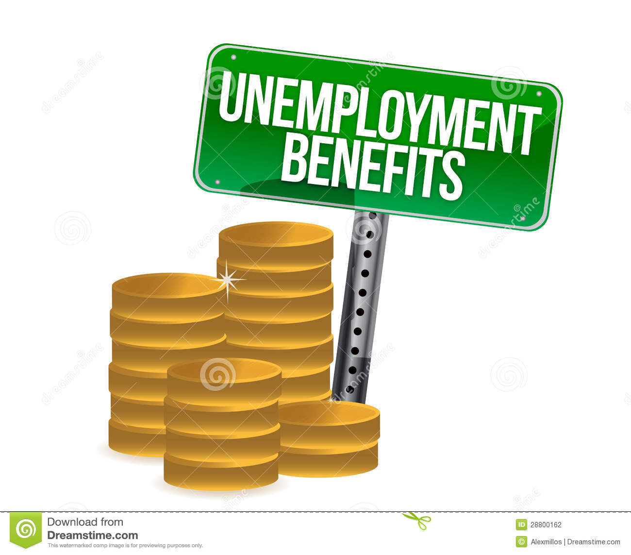 Unemployment Benefits Coins Stock Illustration ...
