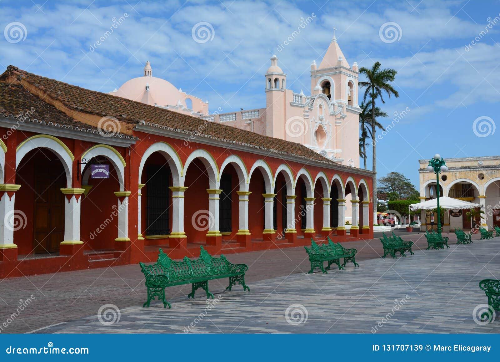 Unesco-Dorp van Tlacotalpan Veracruz in Mexico