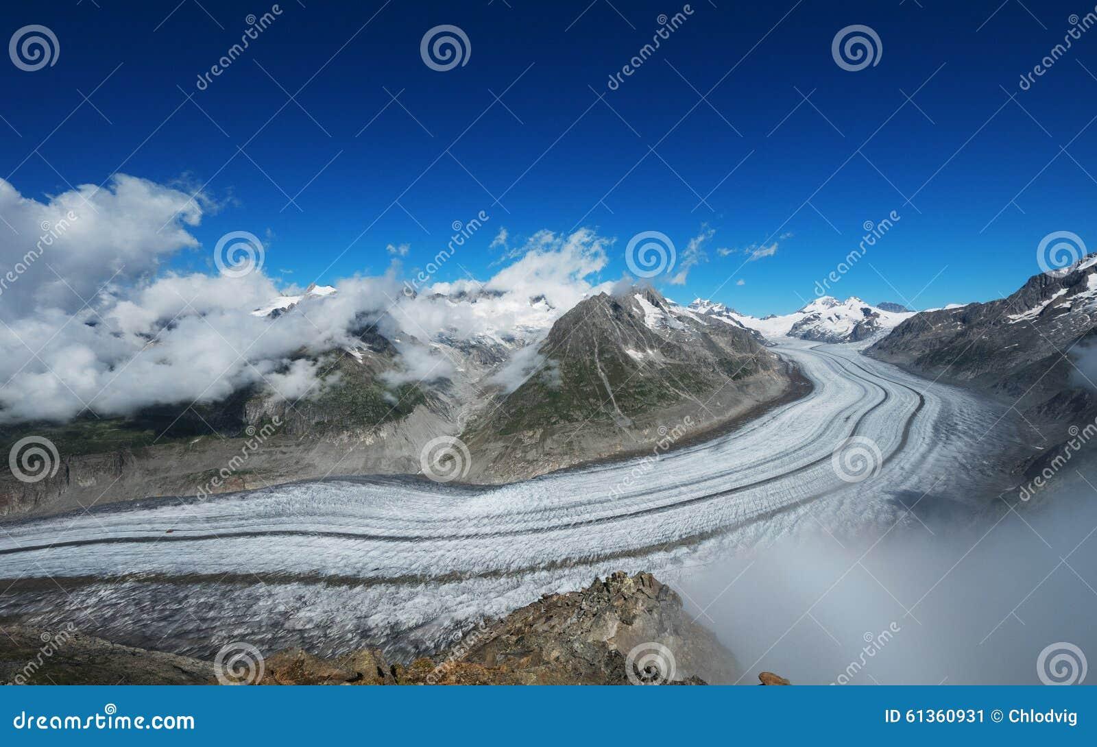 UNESCO World Heritage Site Aletsch Glacier