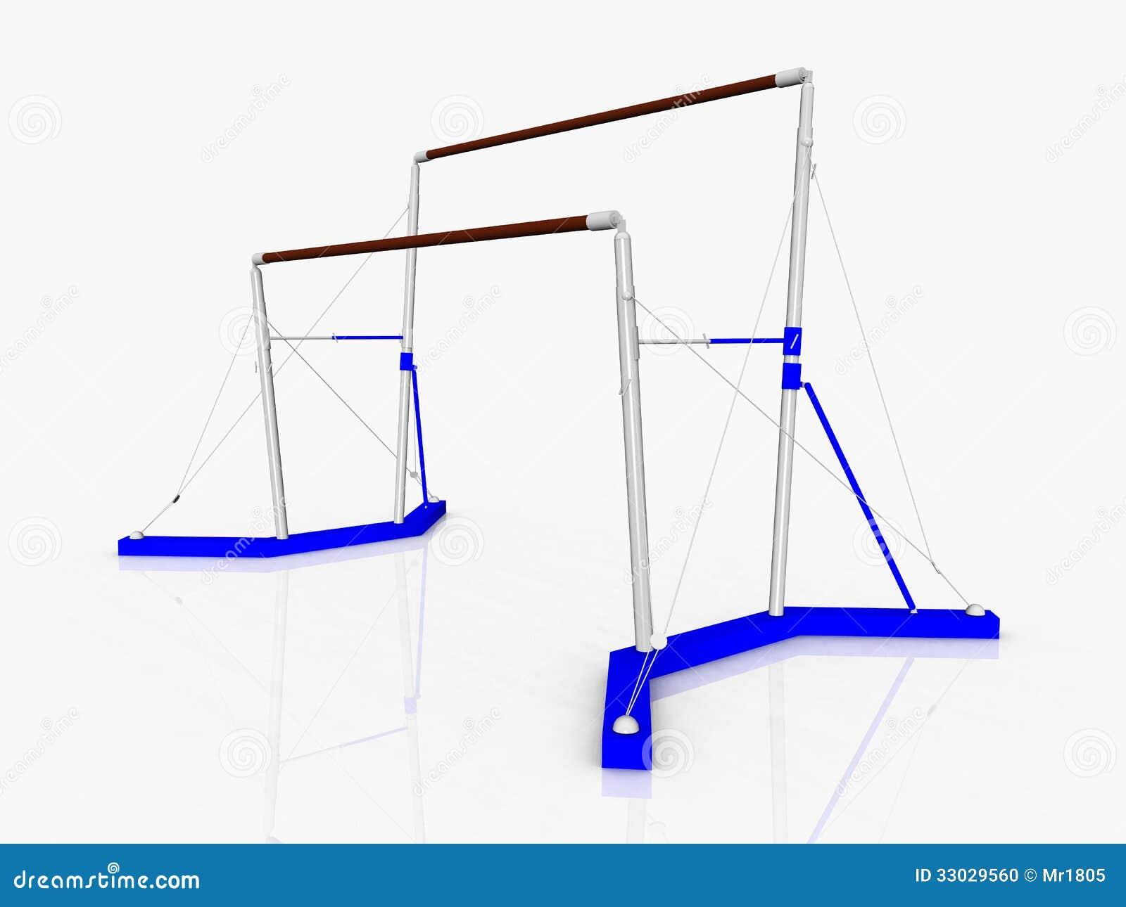 uneven bars stock photo   image 33029560