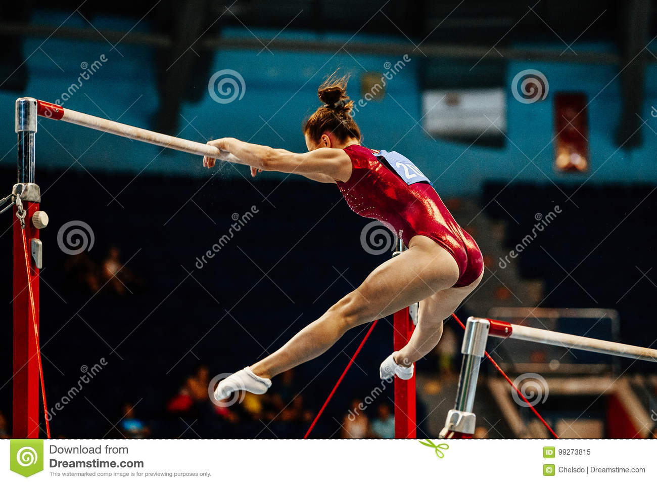 0b7a7674c988 Uneven bars female gymnast editorial image. Image of exercise - 99273815
