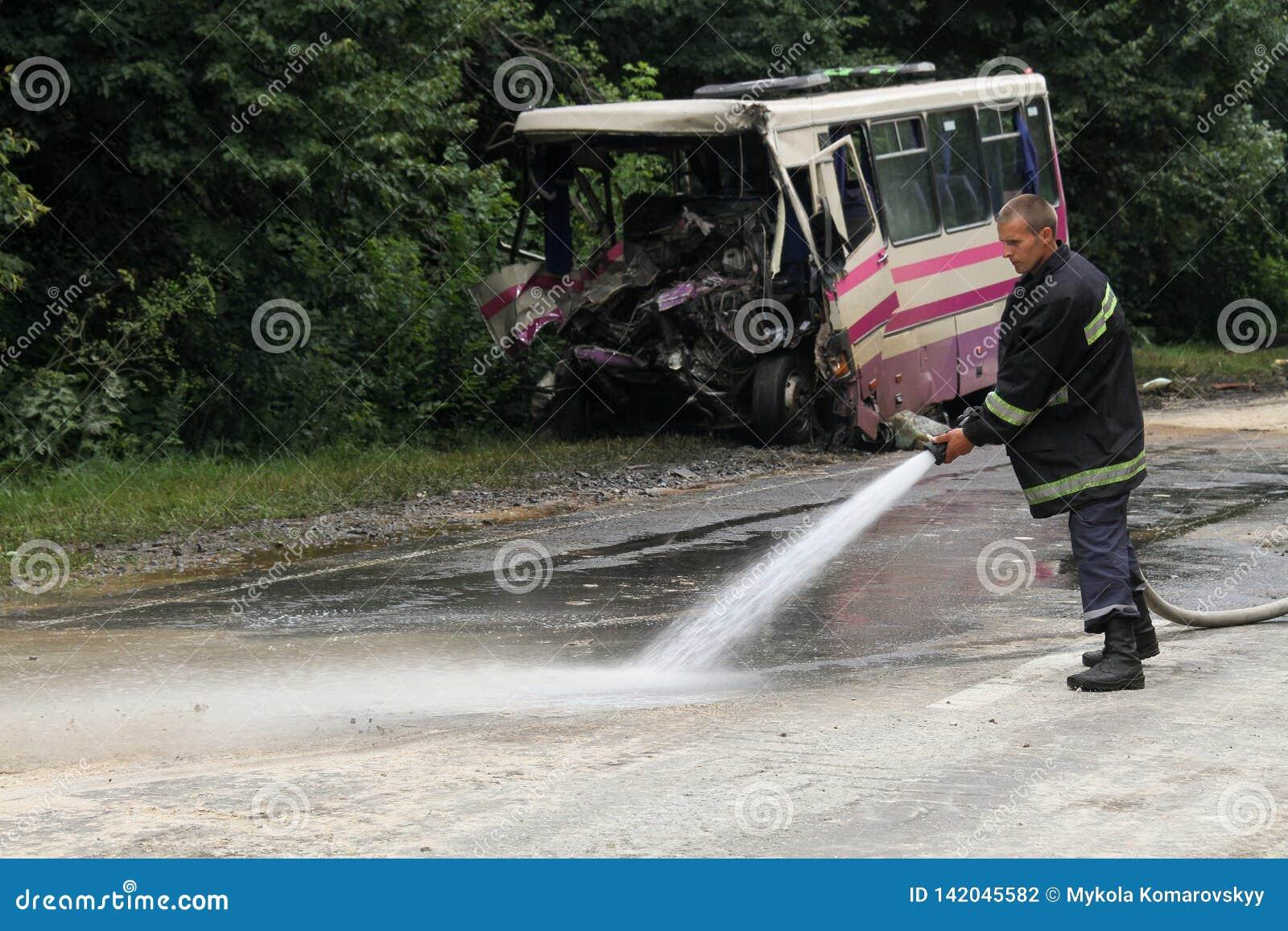 Unfall des Busses