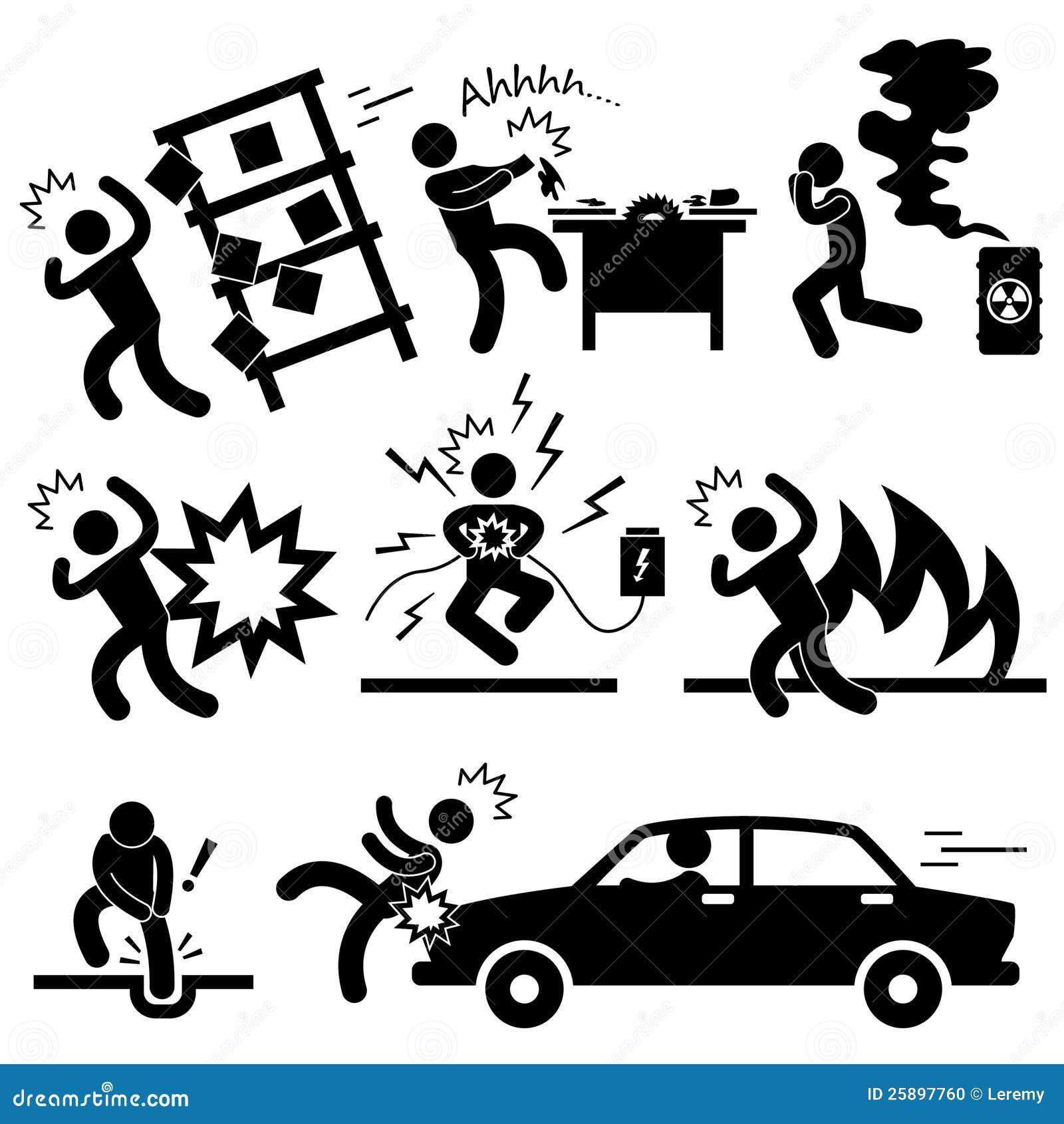Unfall-Explosion-Gefahren-Gefahr-Piktogramm Vektor Abbildung ...