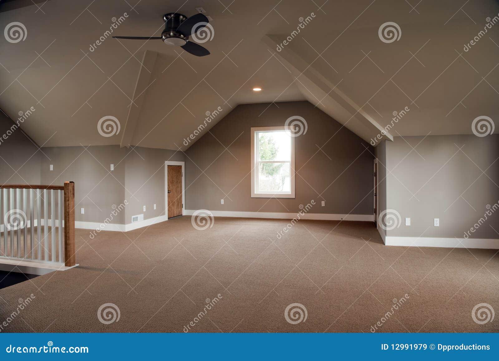 Unfertiger Dachboden stockbild. Bild von gebläse, niemand - 12991979