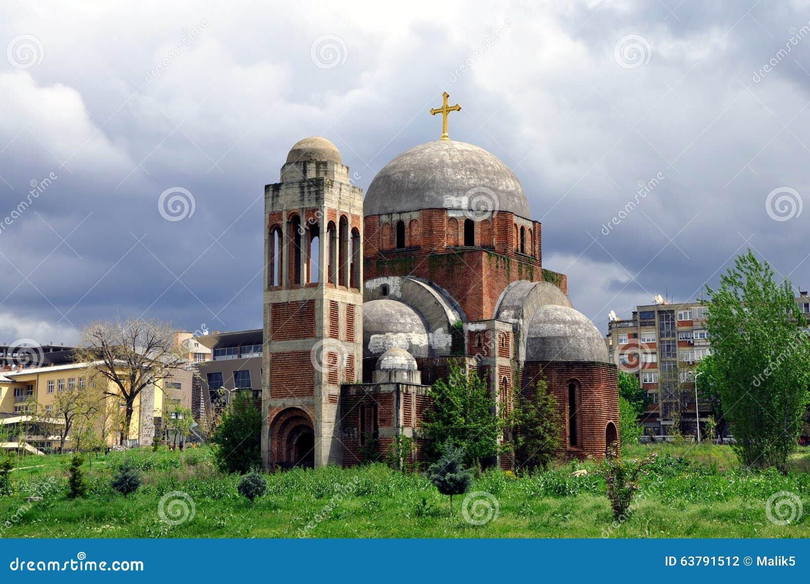 Unfertiger serbischer orthodoxer Tempel des Heilig-Retters