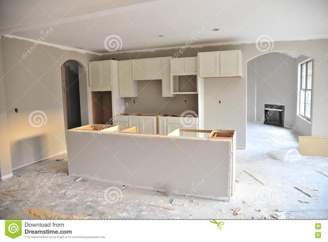 Unfinished kitchen in new home stock photo image 79572943 Home interior brand