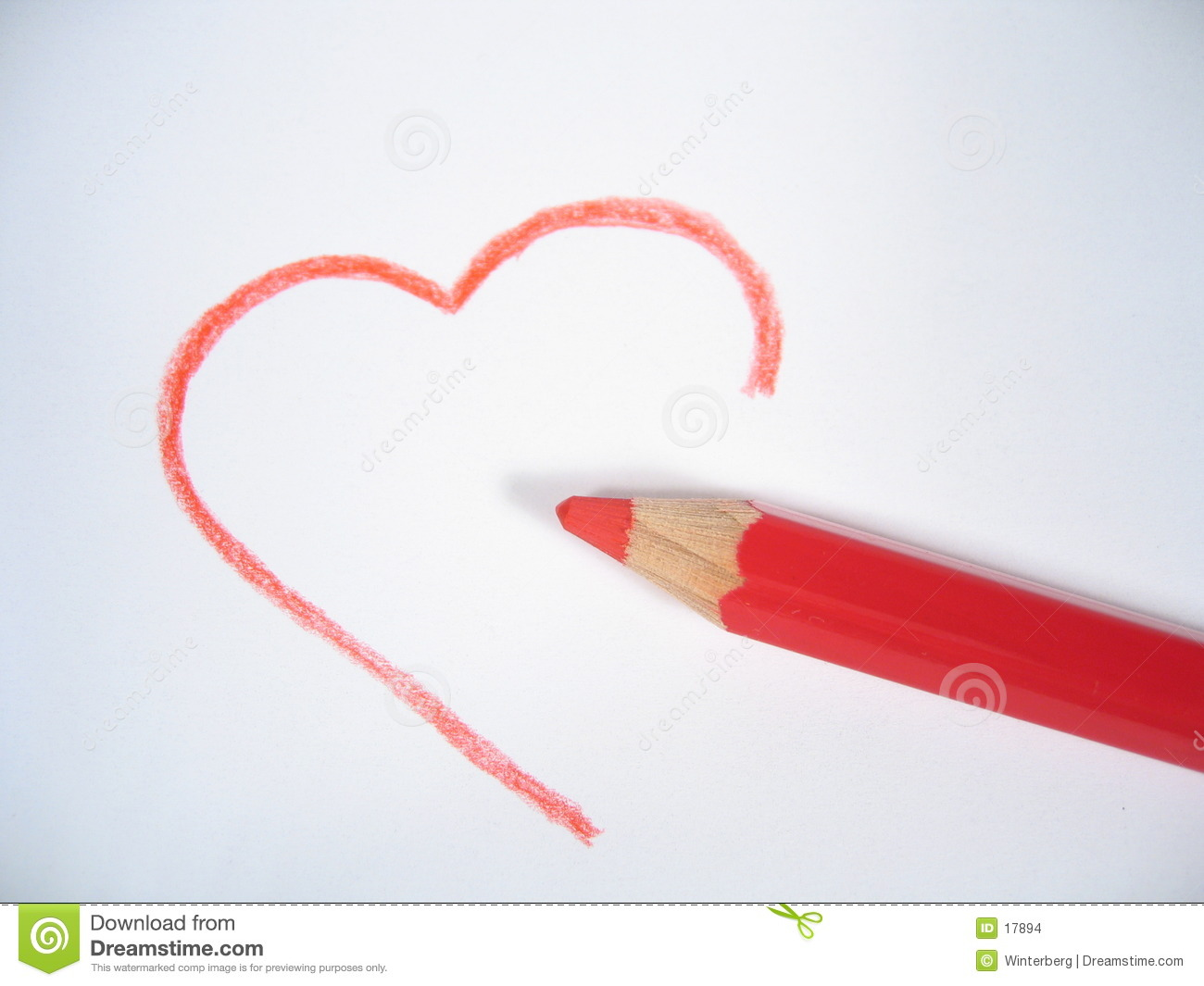 unfinished love stock photo image of unsure heart affection 17894