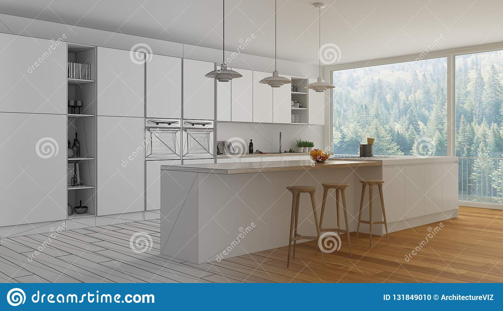 Unfinished Project Draft Of Modern Minimalist White And ...