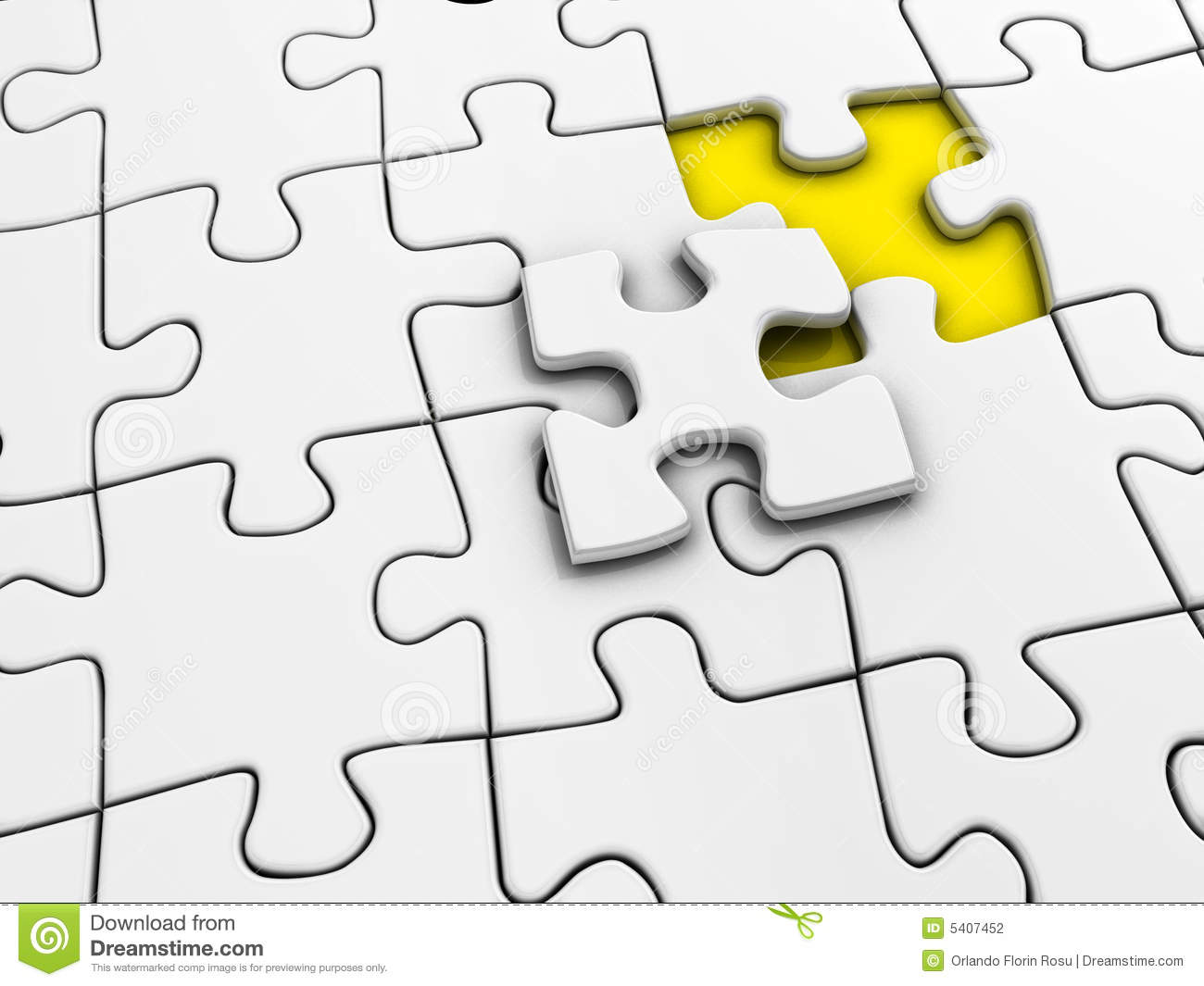 unfinished puzzle stock illustration illustration of success 5407452