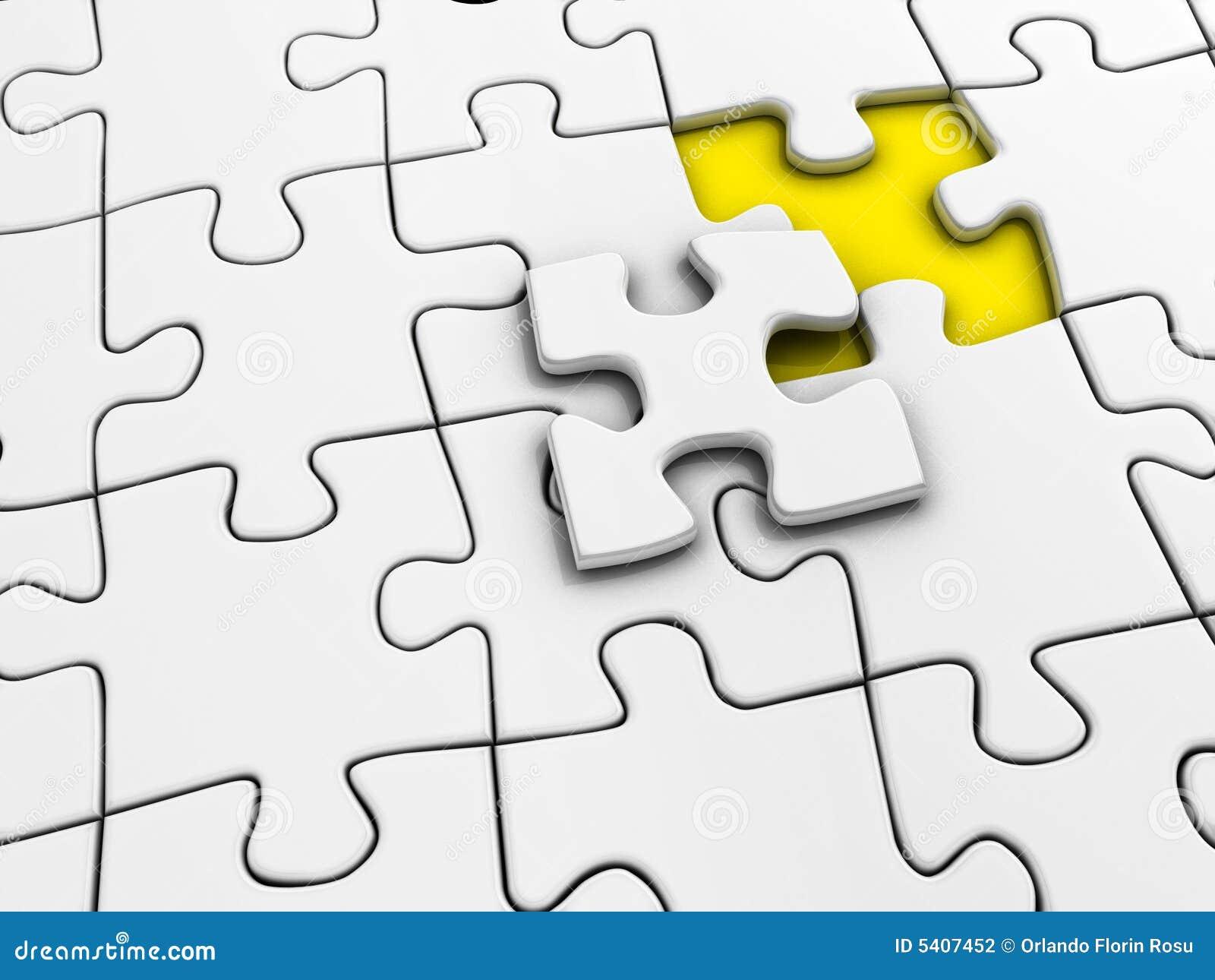 Unfinished Puzzle Stock Photography - Image: 5407452