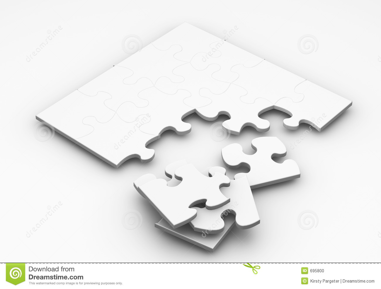 unfinished puzzle stock illustration illustration of alone 695800