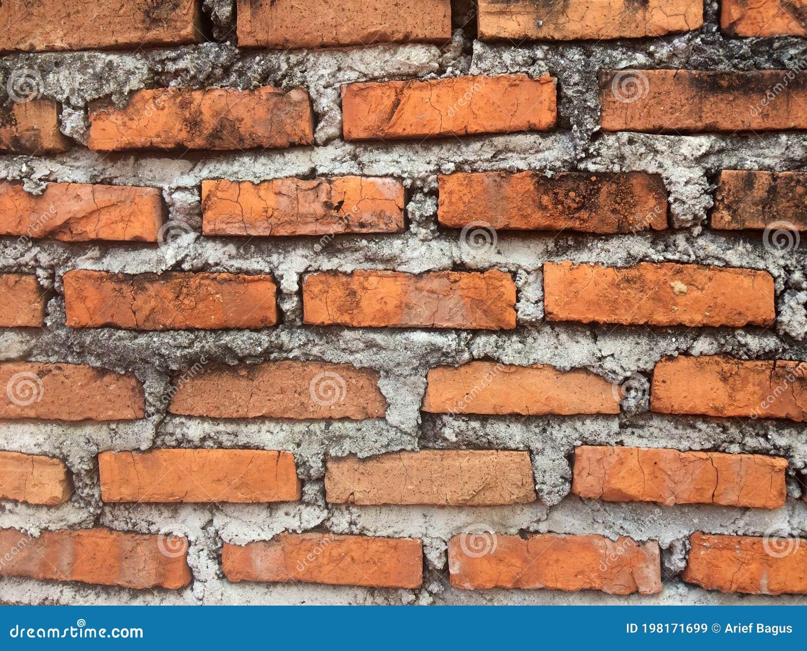Unfinished Red Brick Wall Or Tembok Bata Merah Batu Bata Wall Stock Image Image Of Bricks Design 198171699 Dinding batu bata merah