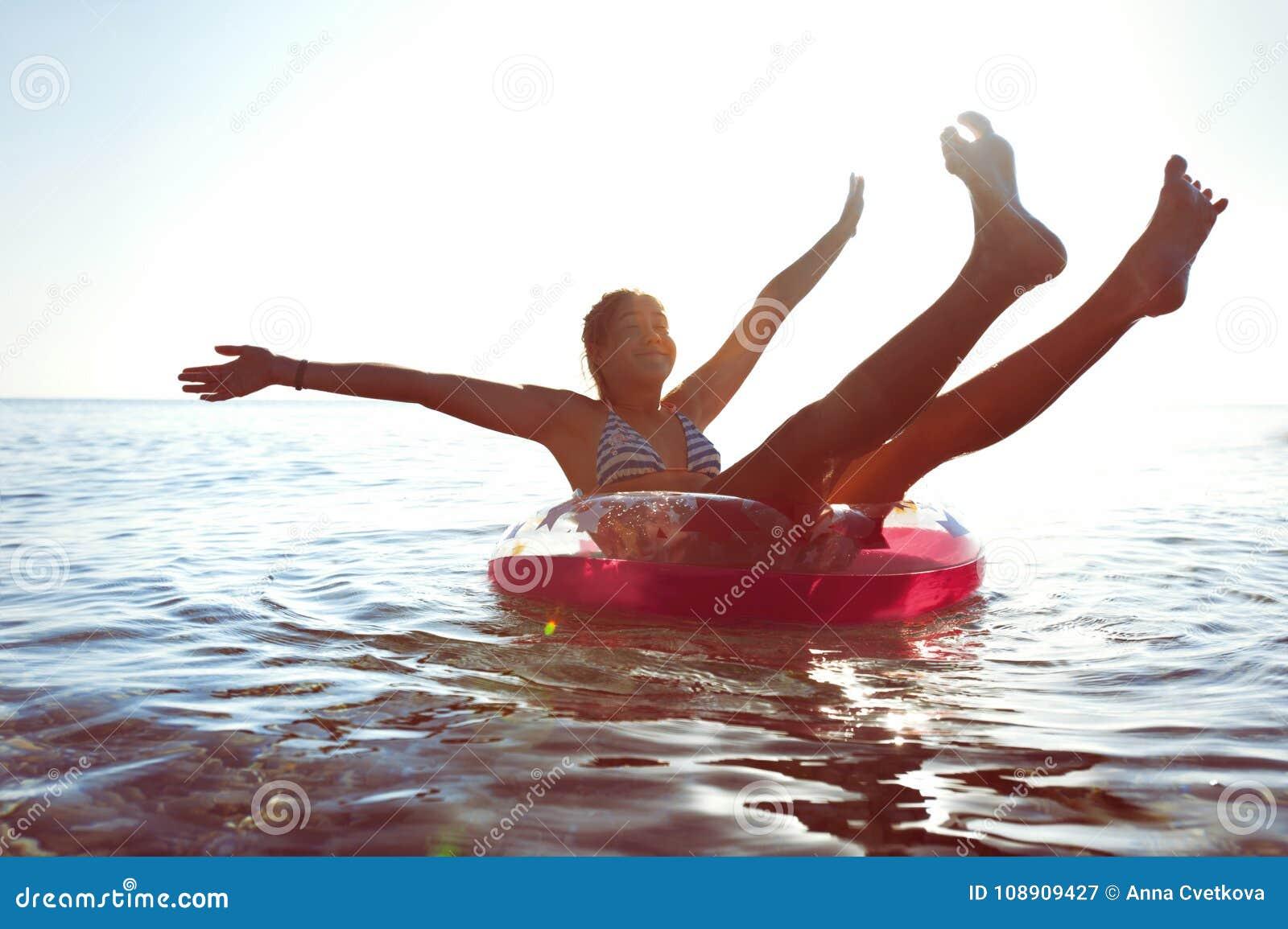 Teens outdoors having enjoyment