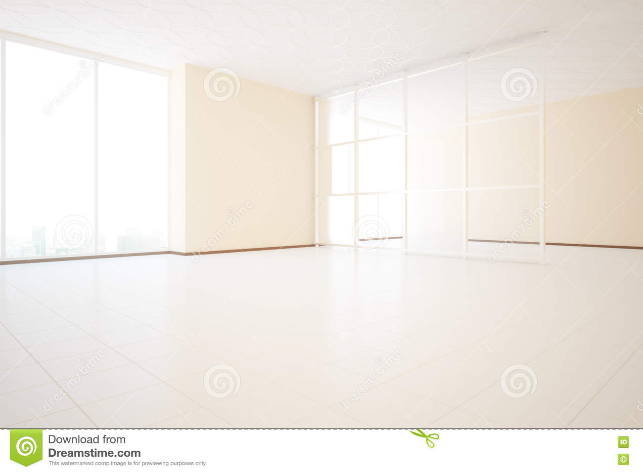 Interior with sunlight side royalty free stock photo for Window side design