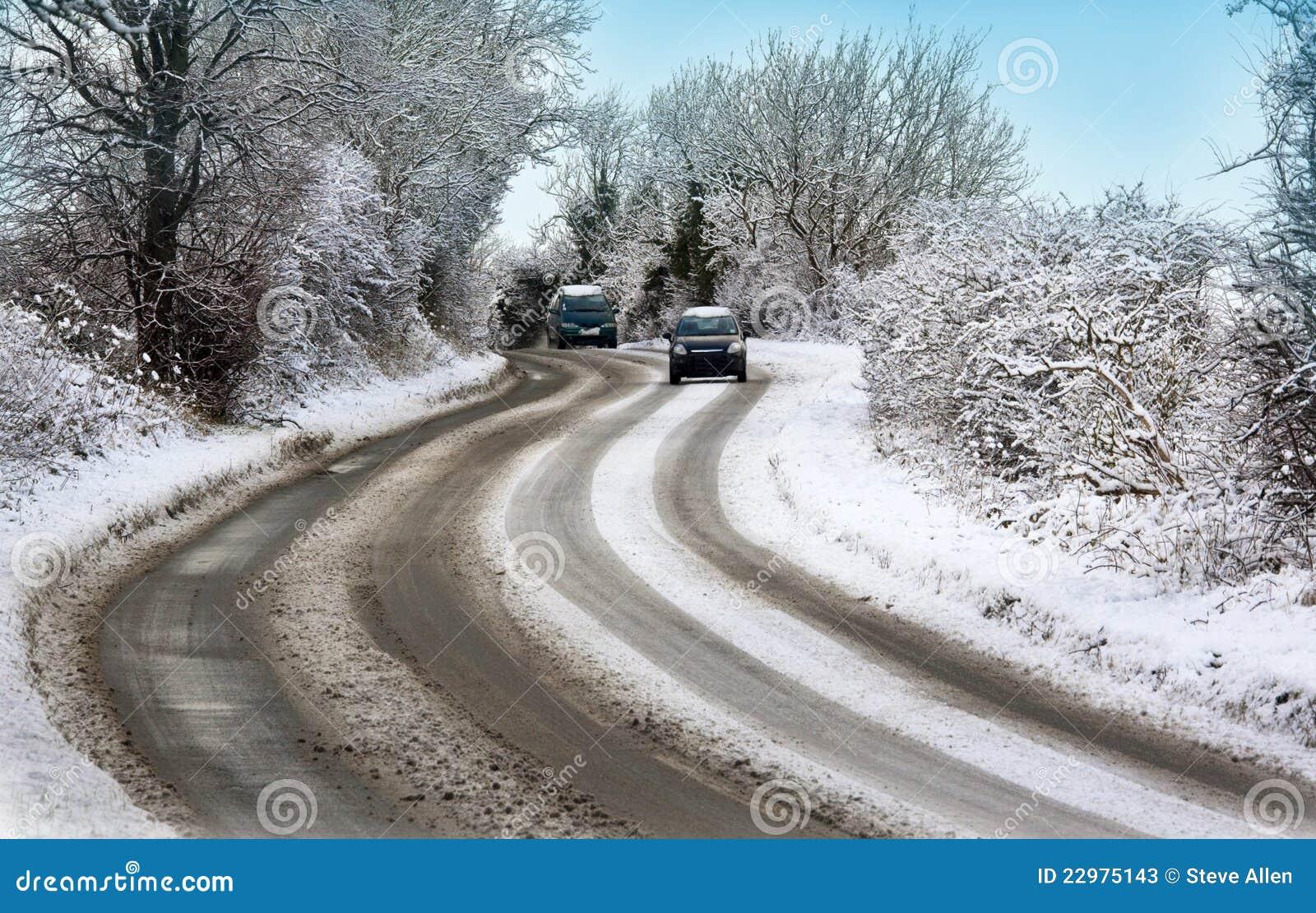 Ungünstige Wetterbedingungen - Winter-Antreiben - Großbritannien
