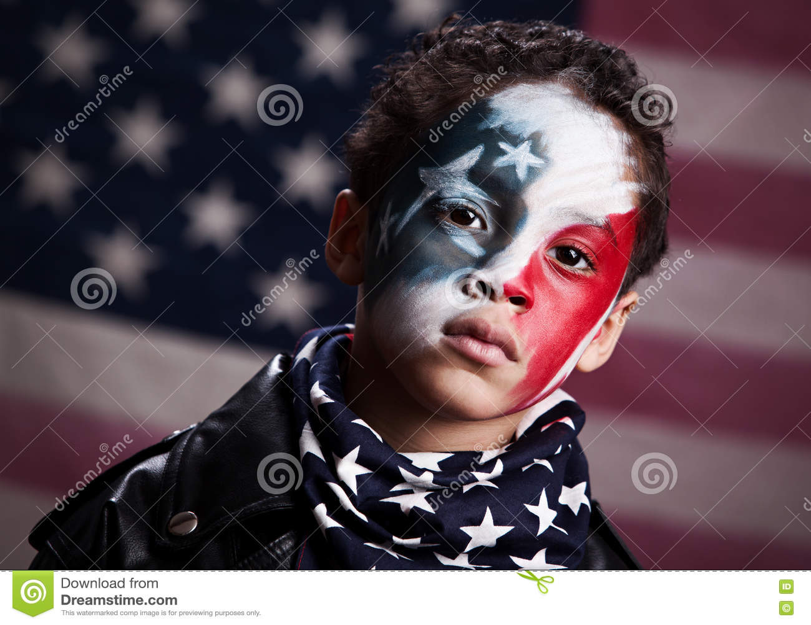 Ung amerikansk patriot