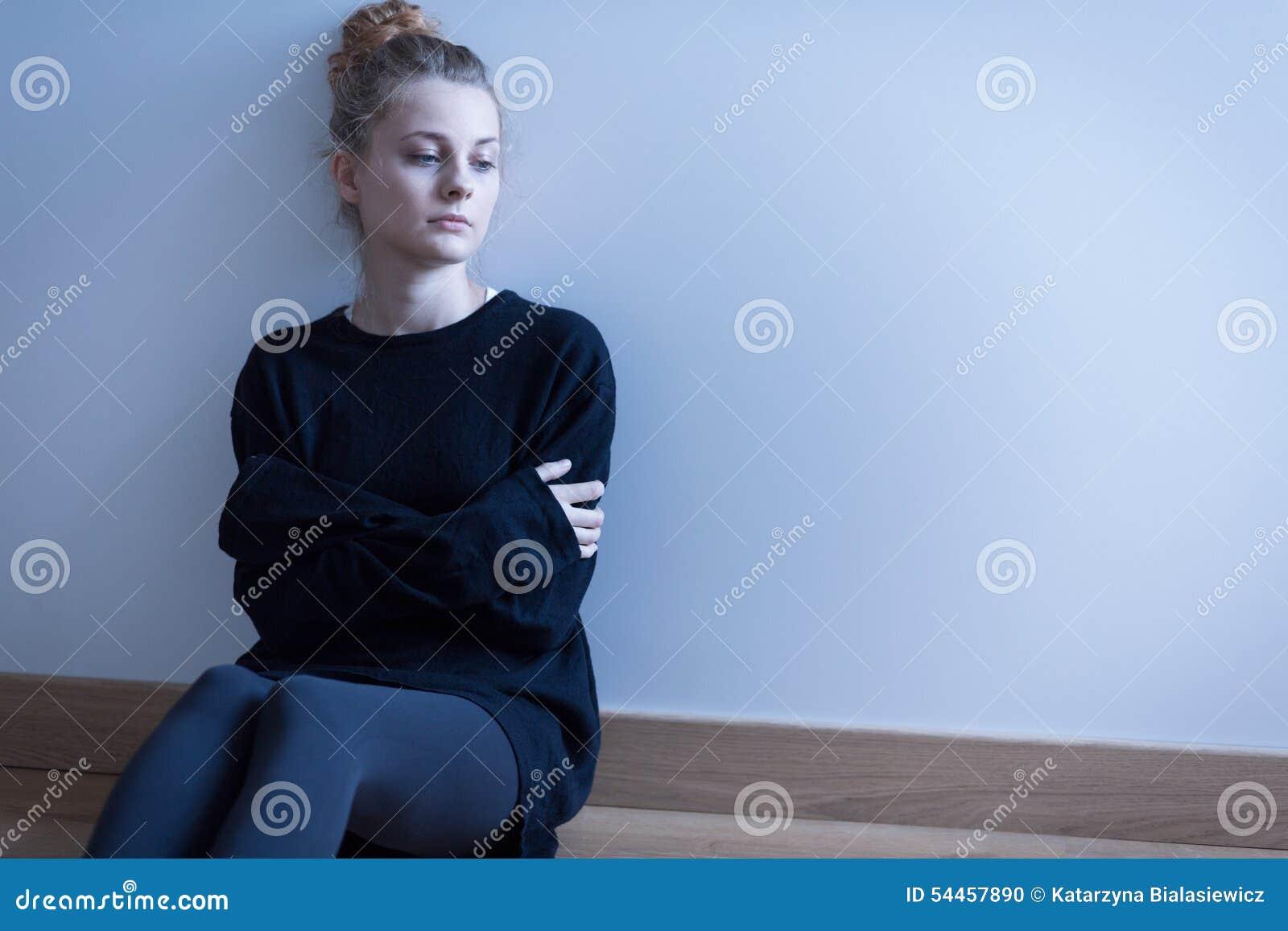 Ung kvinna med ångestoordning