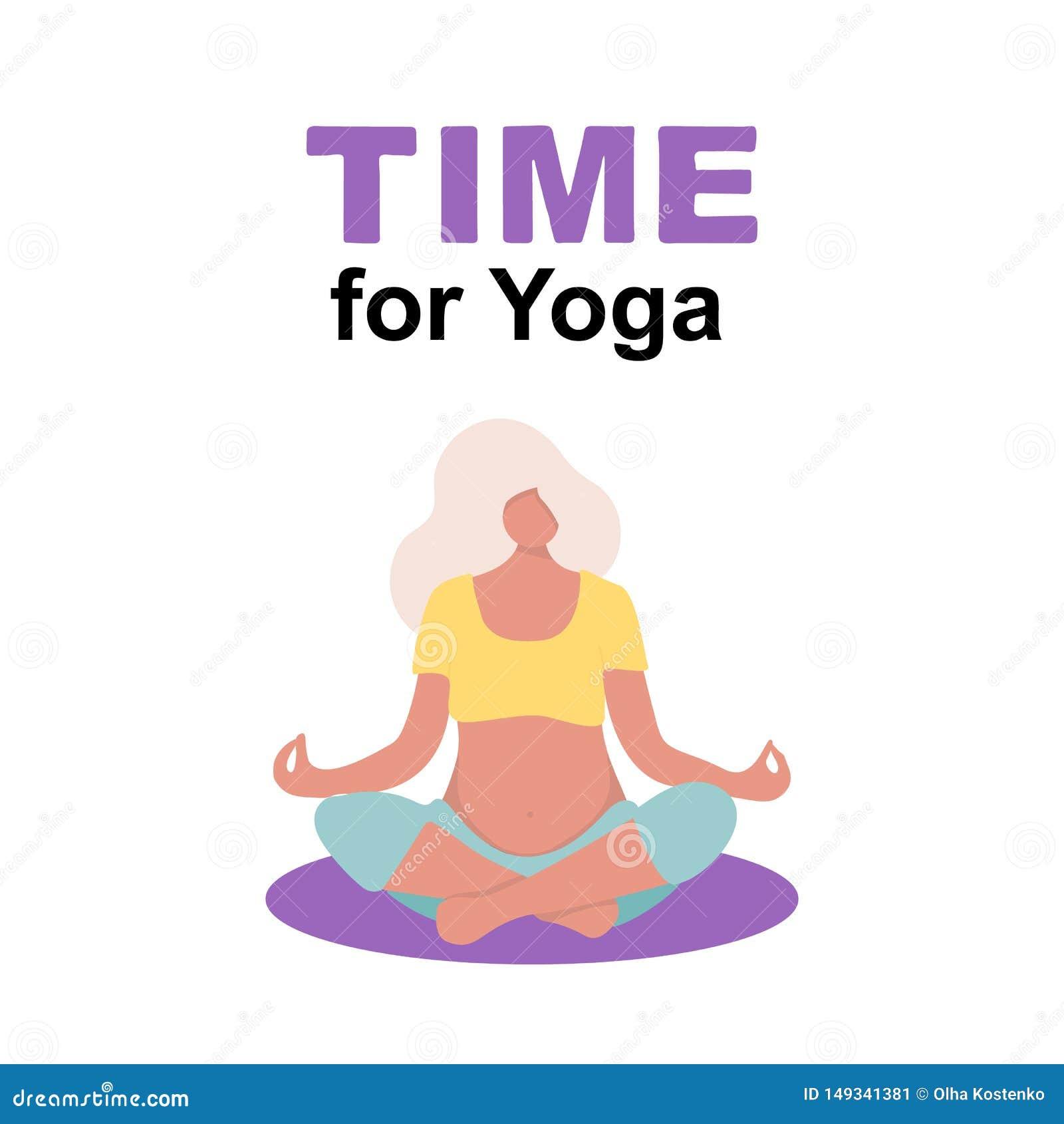 Ung meditation f?r havandeskapkvinnatecken