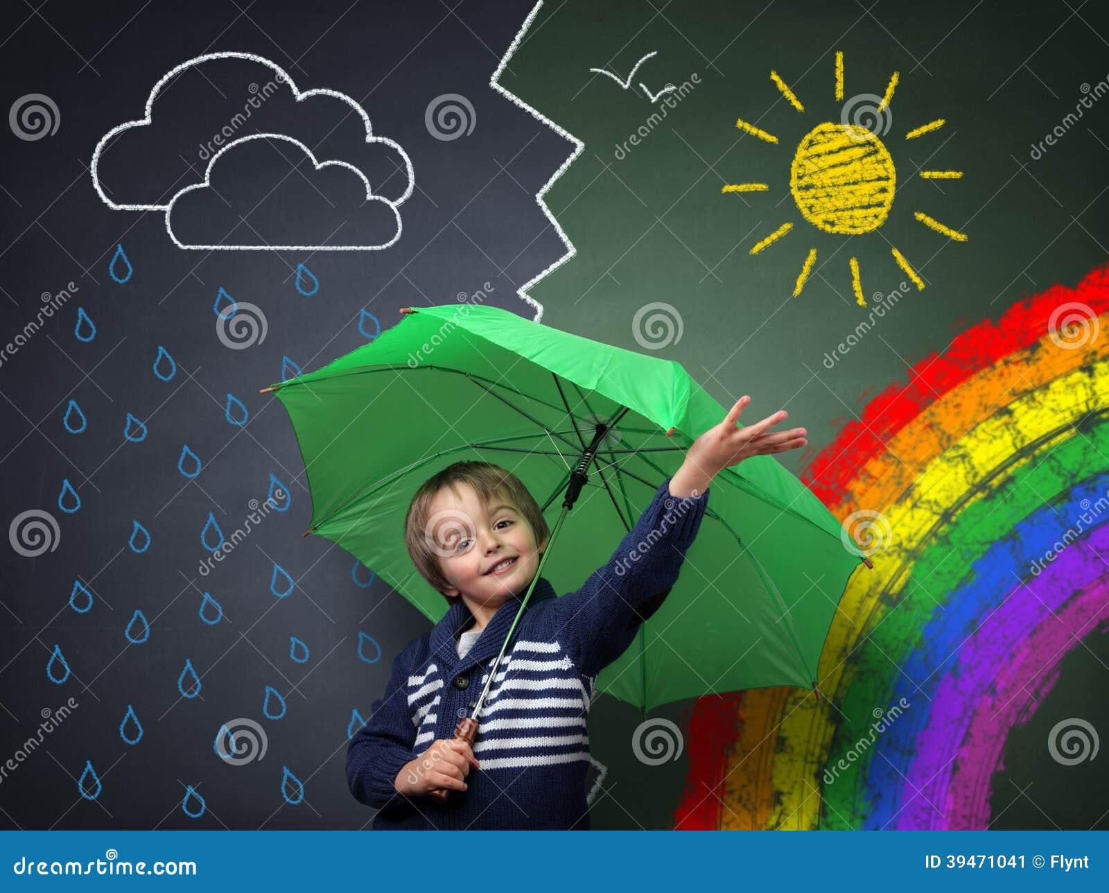 Ung optimist en ändring i vädret