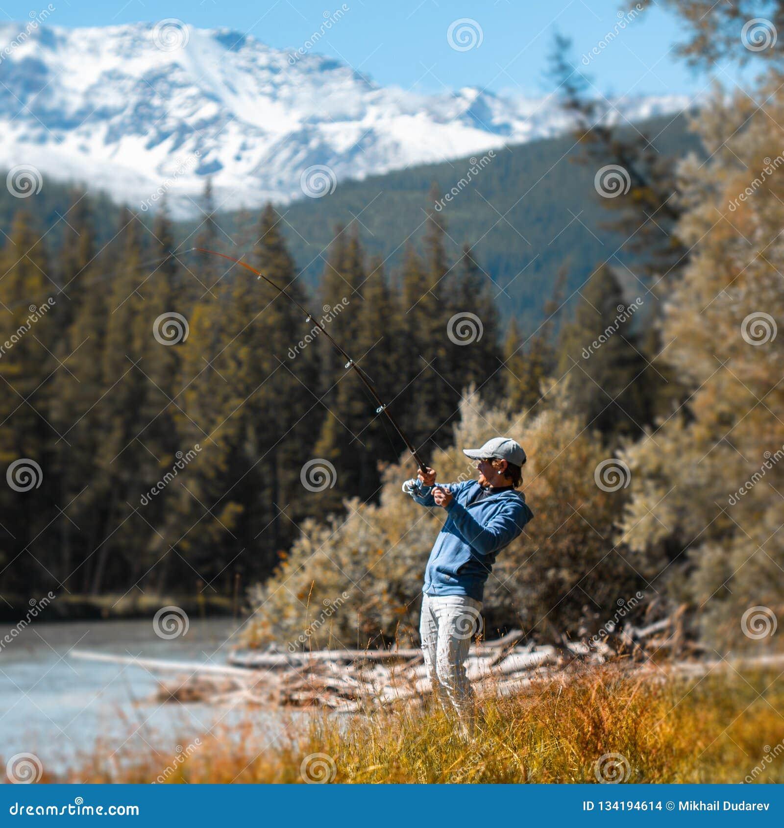 Ung vuxen sportfiskare