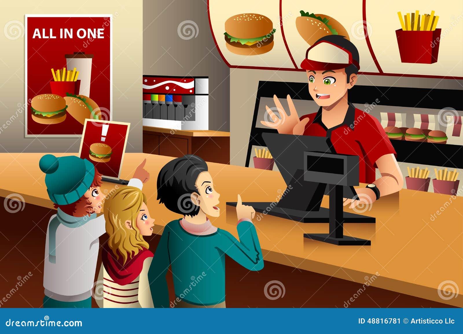 Gratis tecknade bilder på mat