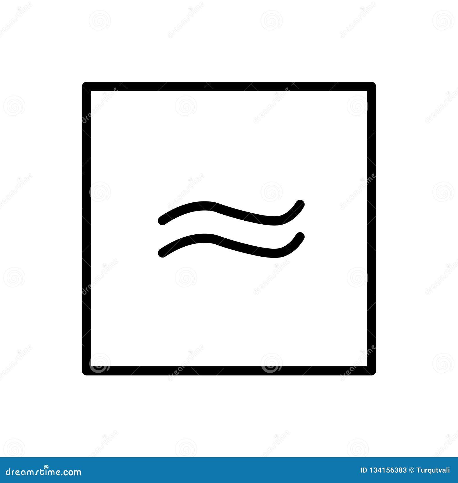 Ungefärligt jämbördig till symbolsvektorn som isoleras på vit bakgrund, ungefärligt jämbördig att underteckna, är är linjen och ö