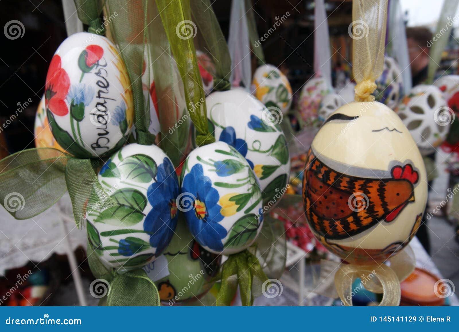 Ungerska Folk Art Painted Easter Eggs