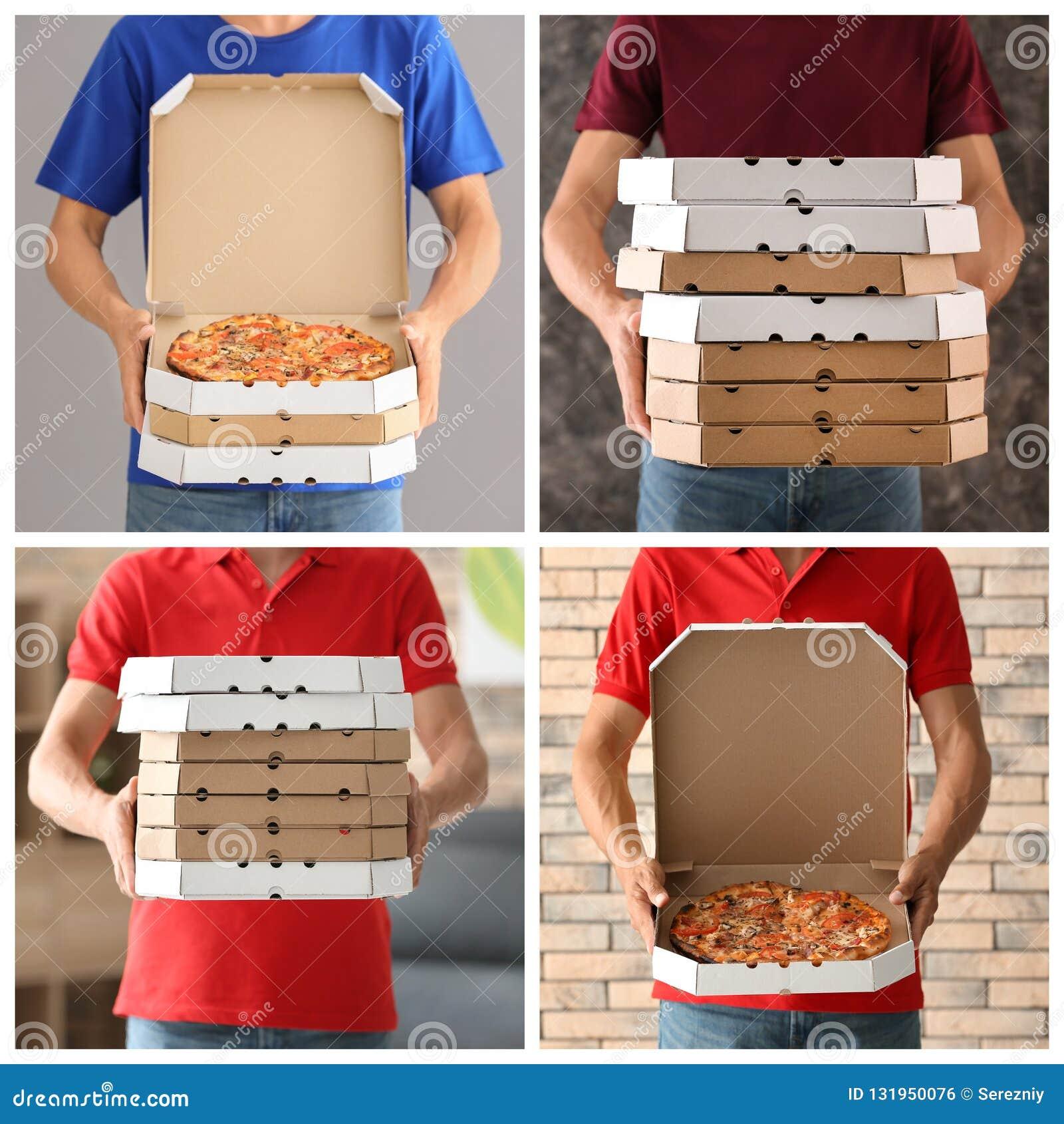 Ungt bud med pizzaaskar