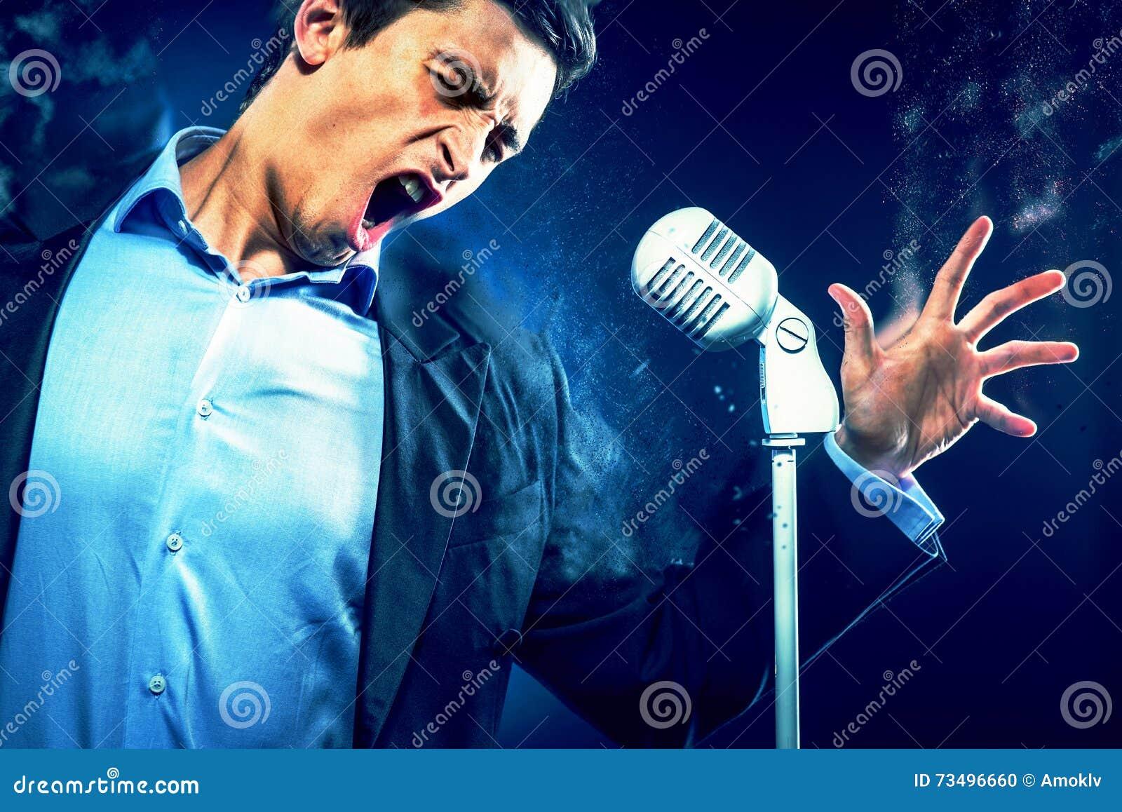 Ungt stiligt sjunga för man