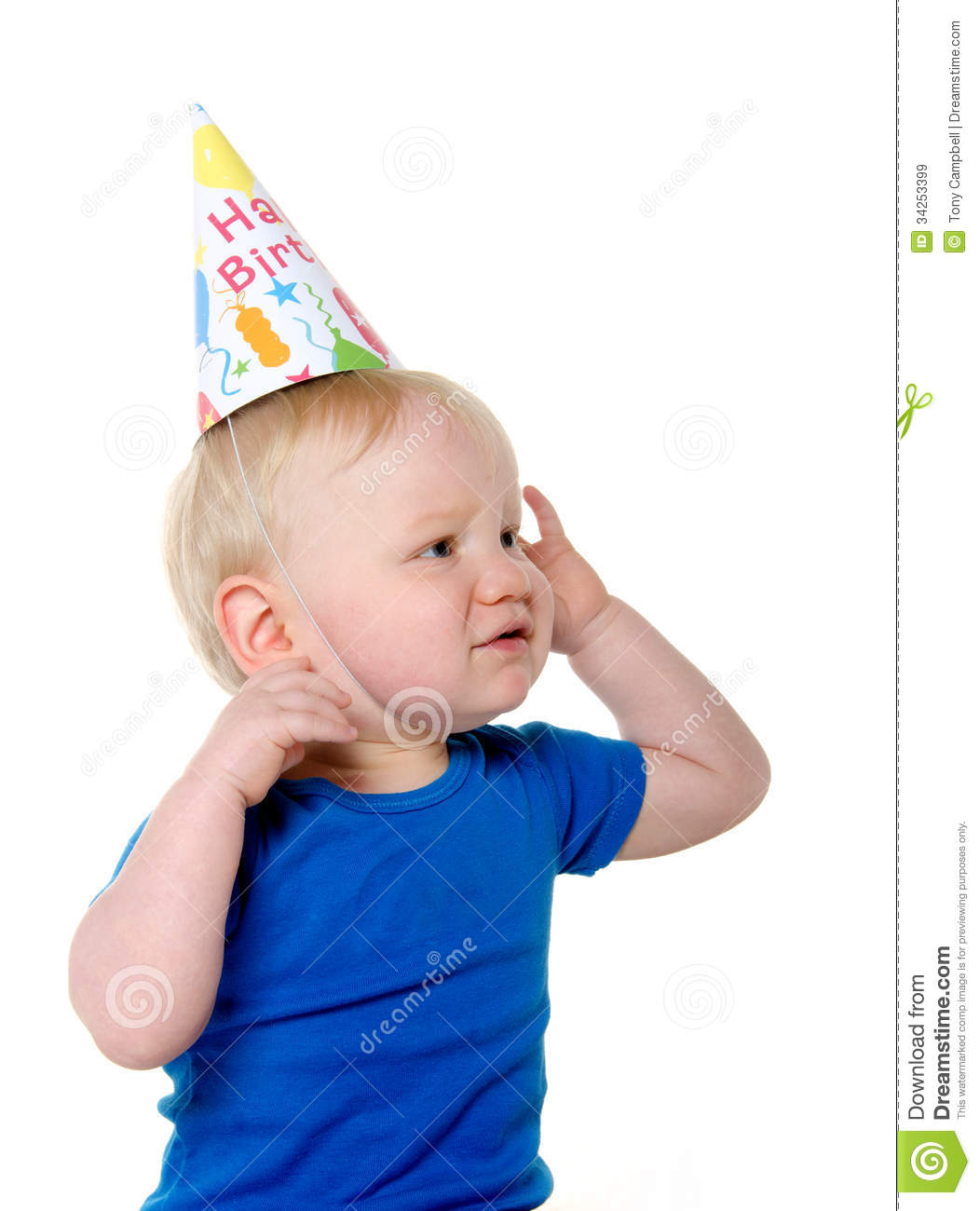 Unhappy birthday boy royalty free stock images image for Baby boy blue shirt