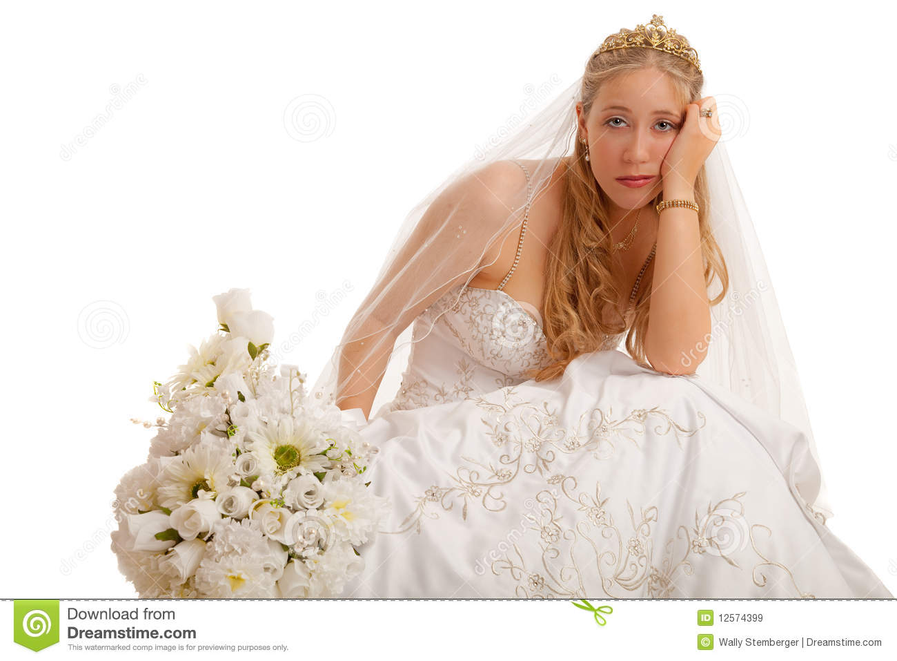 Unhappy Bride Royalty Free Stock Images Image 12574399