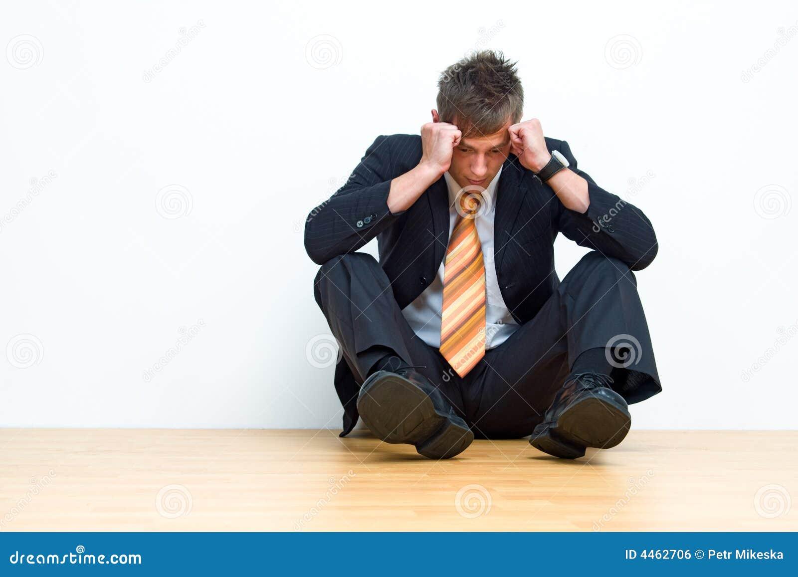 Unhappy businessman